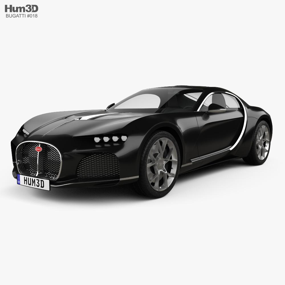 Bugatti Atlantic 2015 3d model