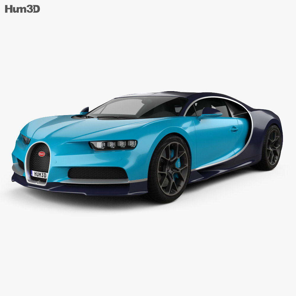 bugatti chiron 2017 3d model hum3d. Black Bedroom Furniture Sets. Home Design Ideas