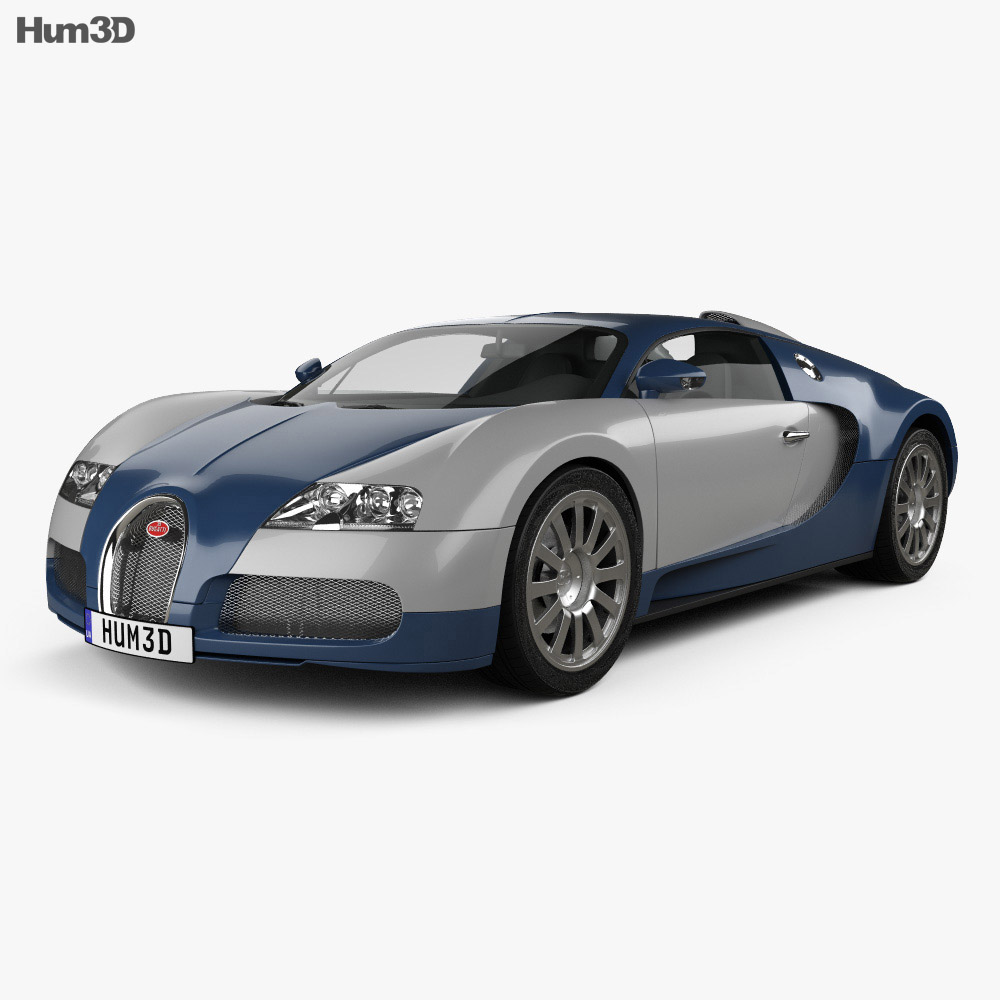 bugatti veyron 2005 3d model hum3d. Black Bedroom Furniture Sets. Home Design Ideas