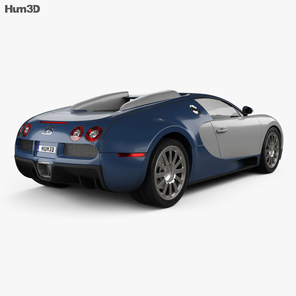 bugatti veyron 2005 3d model hum3d. Black Bedroom Furniture Sets. Home Design Ideas