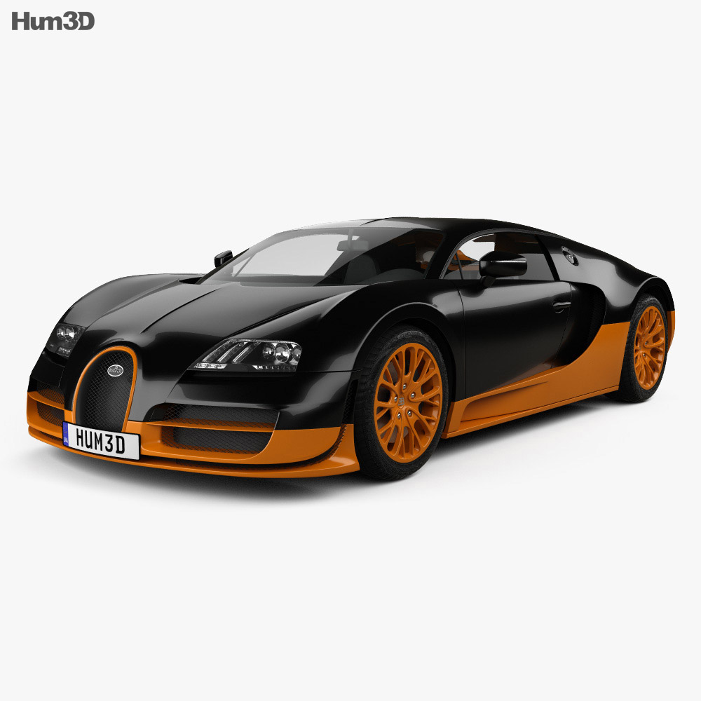 Bugatti Sports Car: Bugatti Veyron Grand-Sport World-Record-Edition 2011 3D