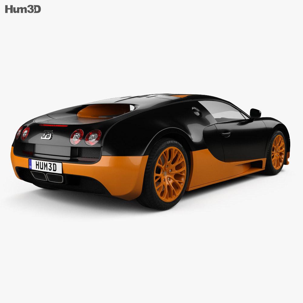 Bugatti Veyron Grand-Sport World-Record-Edition 2011 3d model