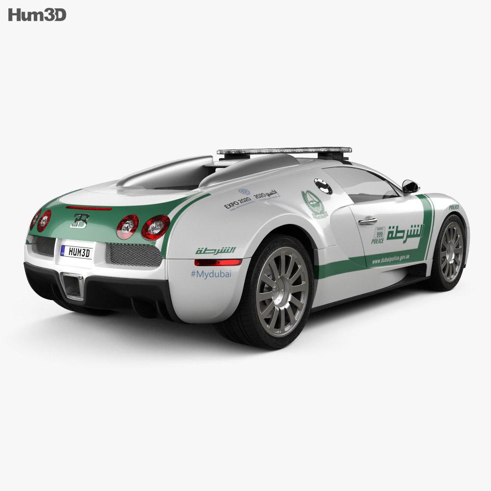 Bugatti Veyron Police Dubai 2014 3d model