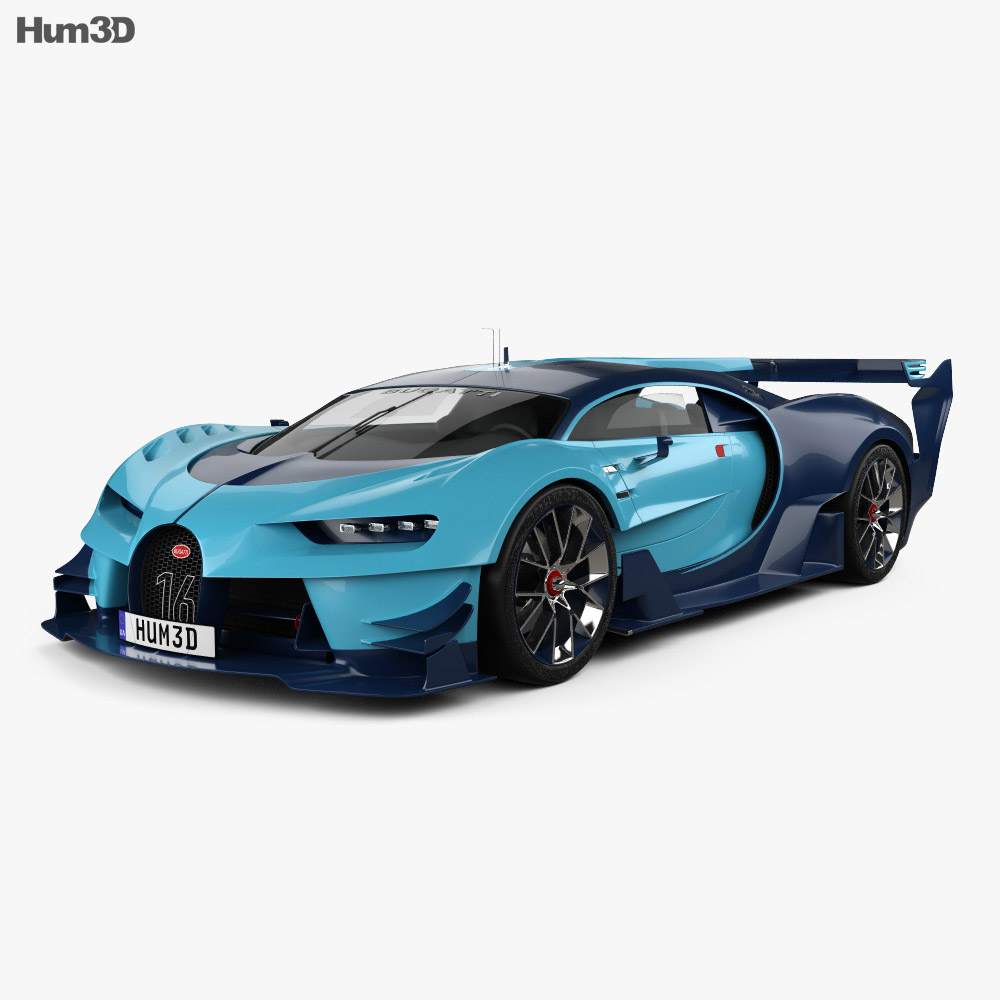 bugatti vision gran turismo 2015 3d model humster3d. Black Bedroom Furniture Sets. Home Design Ideas
