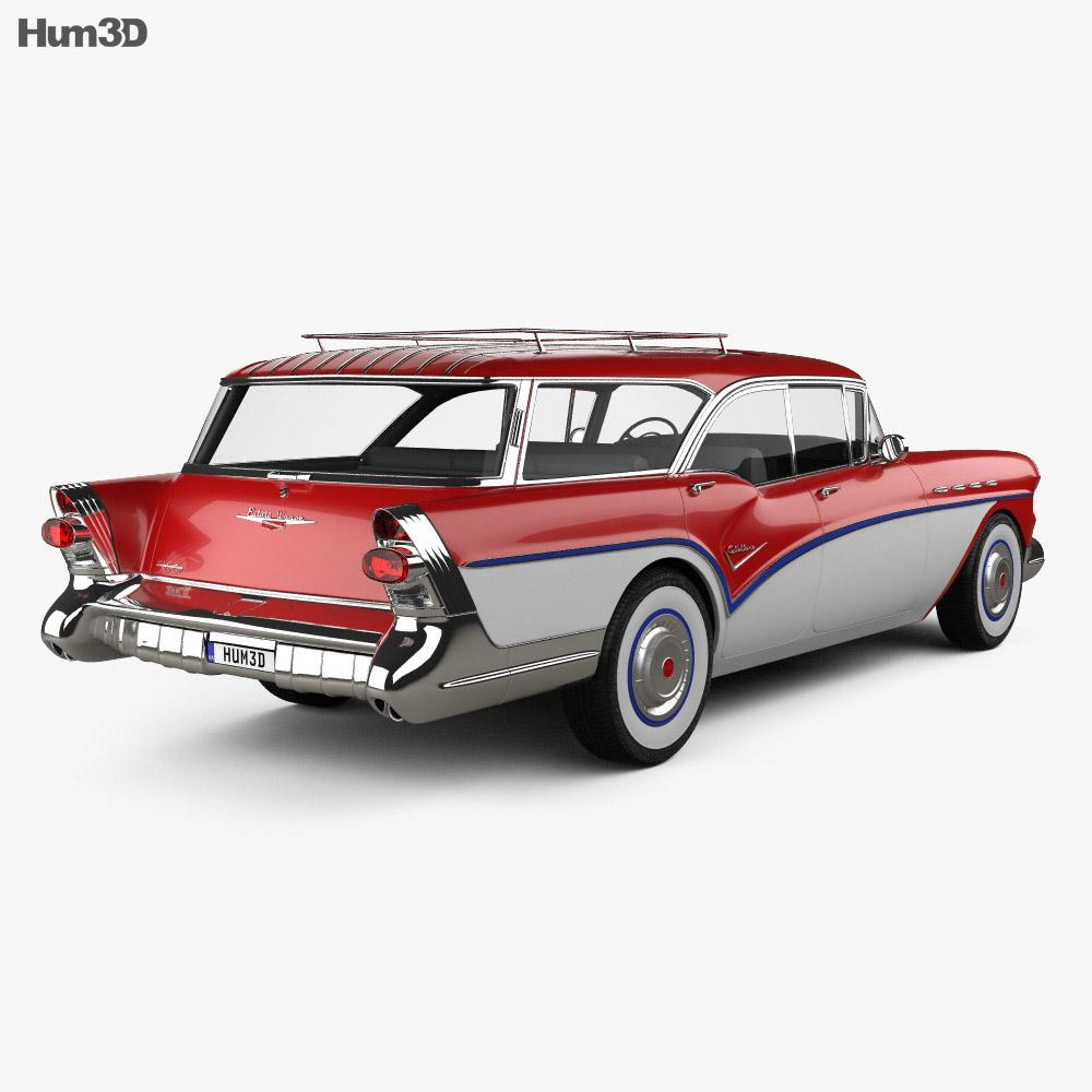 Buick Century Caballero wagon 1957 3d model
