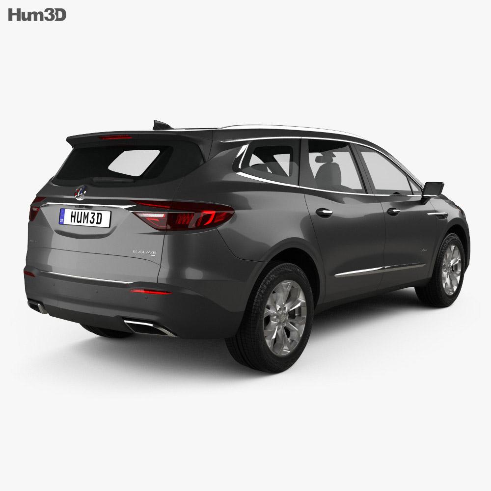 Buick Enclave Avenir 2017 3d model back view