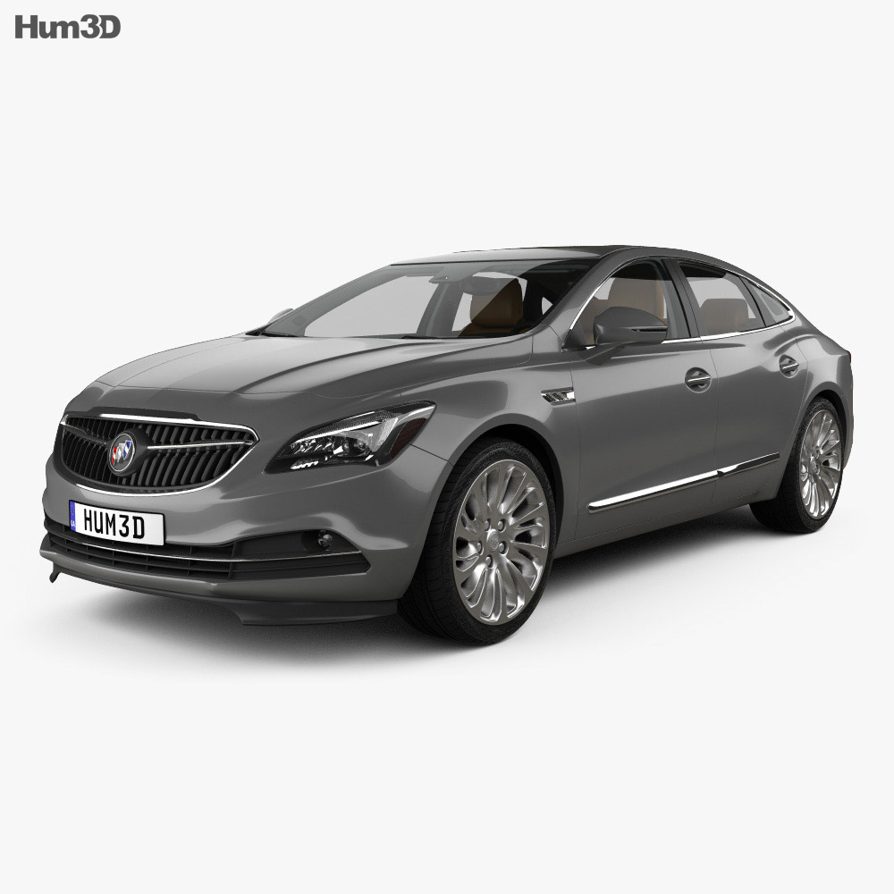 3D model of Buick LaCrosse (Allure) with HQ interior 2017