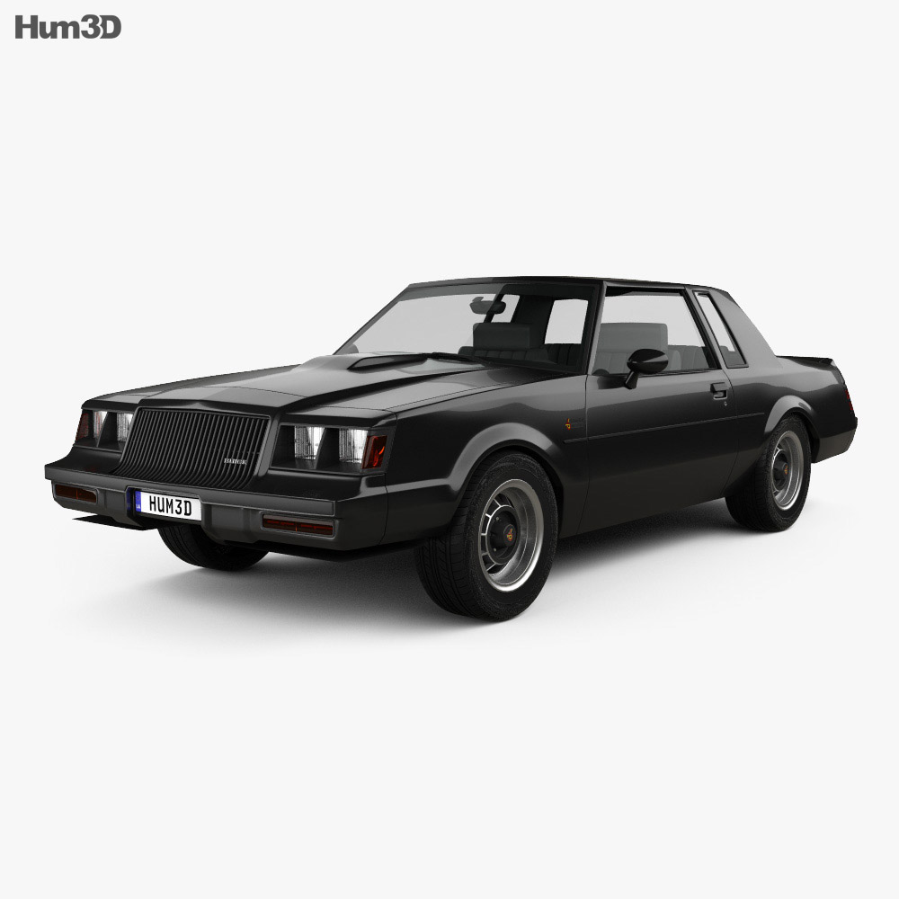Buick Regal Grand National 1987 3d model