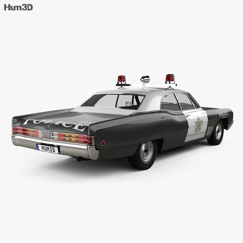 Buick Wildcat Police 1968 3d model