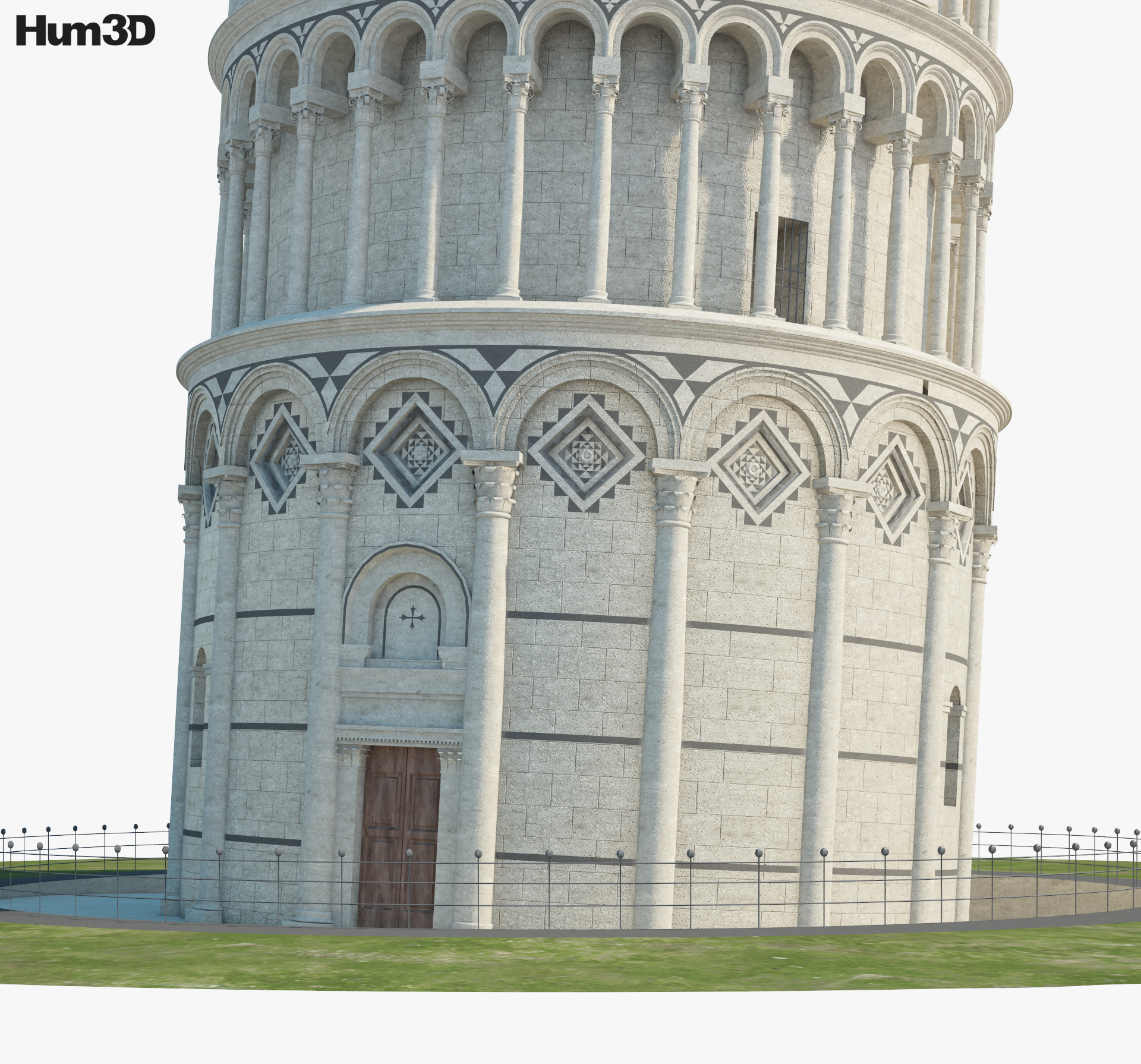 Leaning Tower of Pisa 3d model