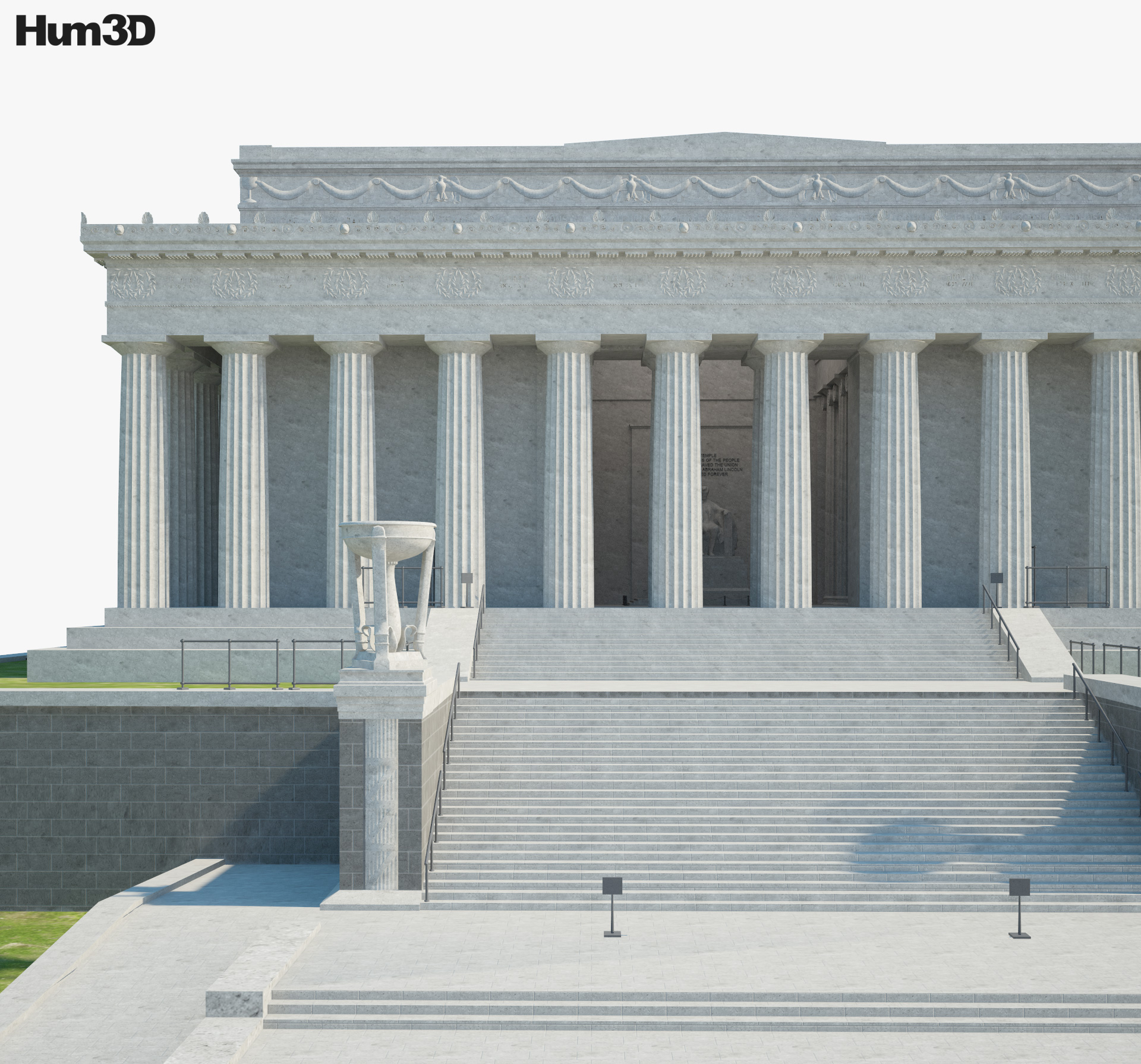 Lincoln Memorial 3d model
