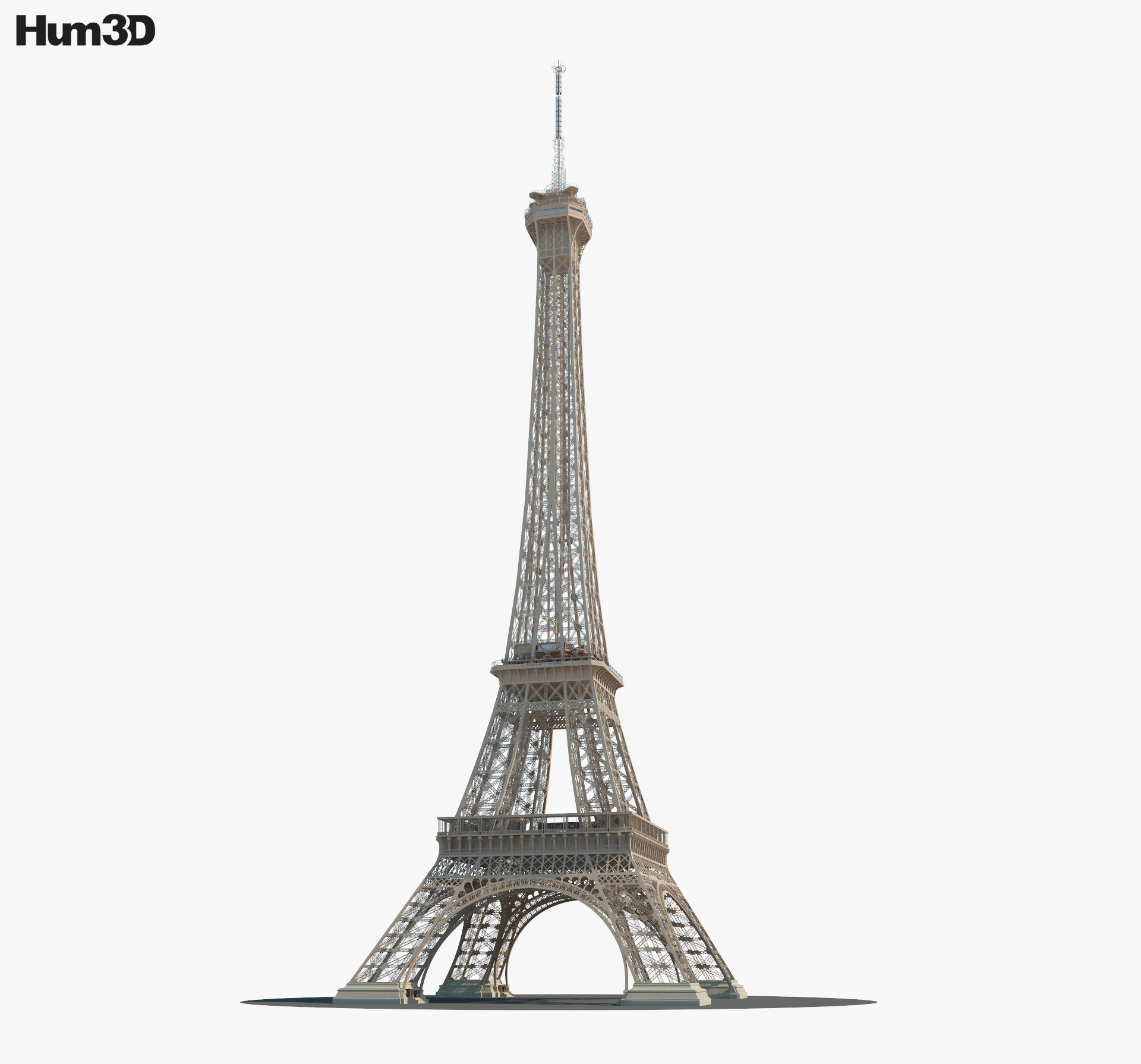 3D model of Eiffel Tower