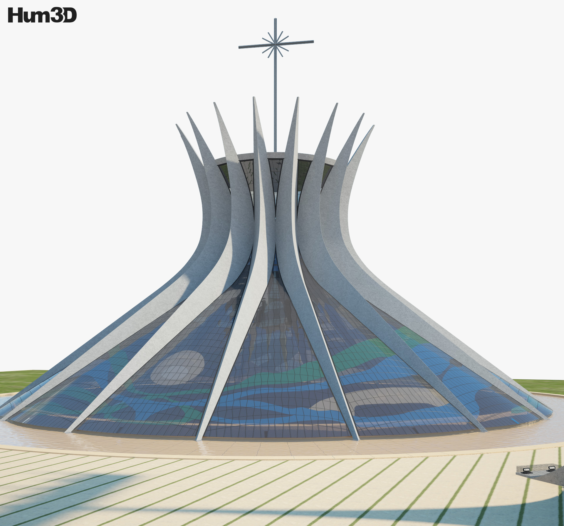 3D model of Cathedral of Brasilia