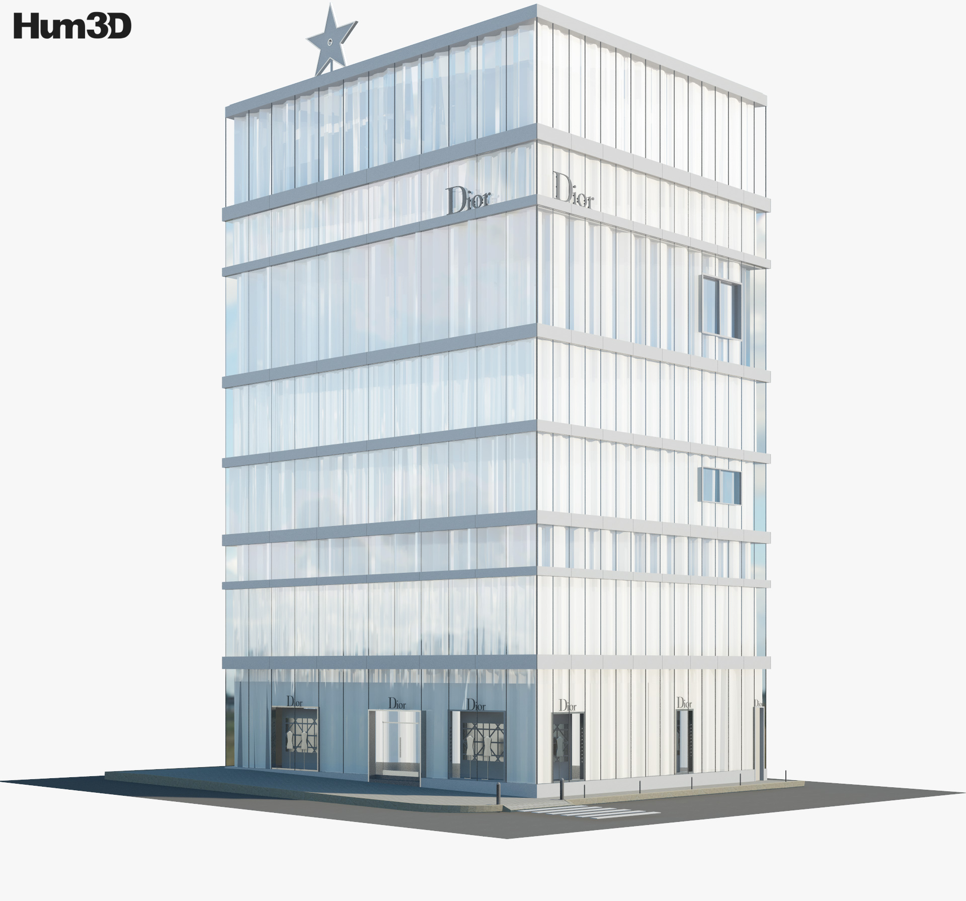 Dior store in Tokyo 3d model