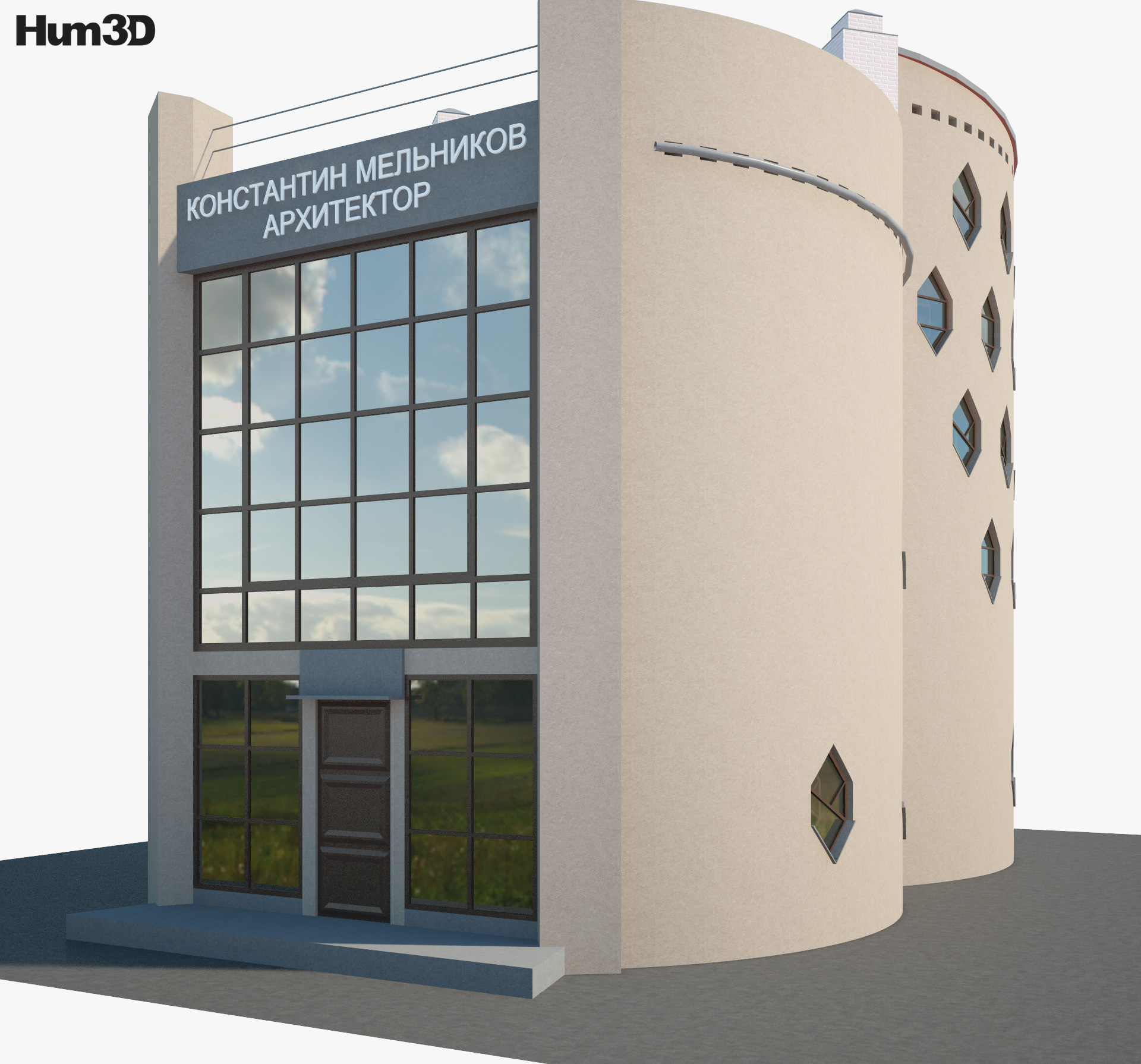 3D model of Melnikov House
