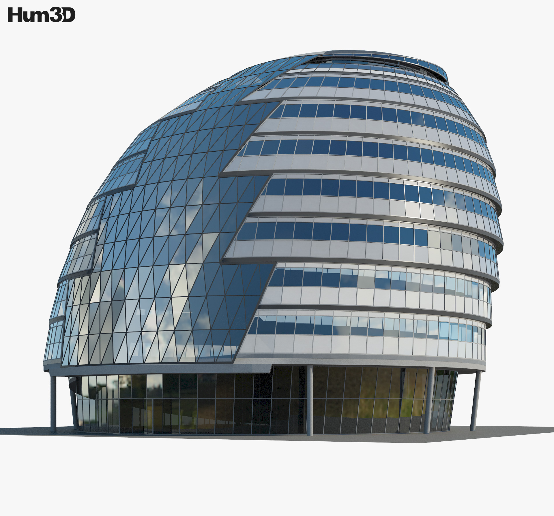 City Hall London 3d model
