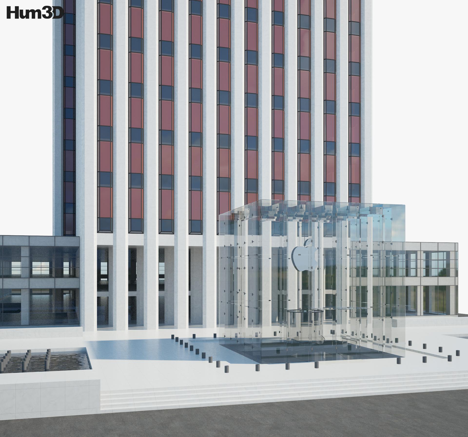 Apple Store in General Motors Building 3d model