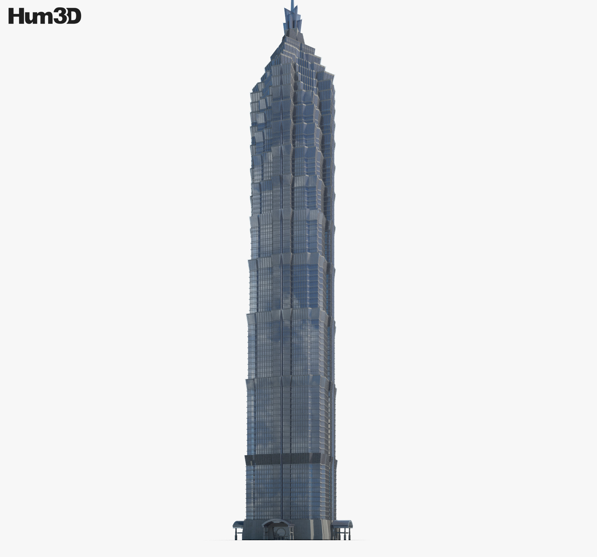 Jin Mao Tower 3d model