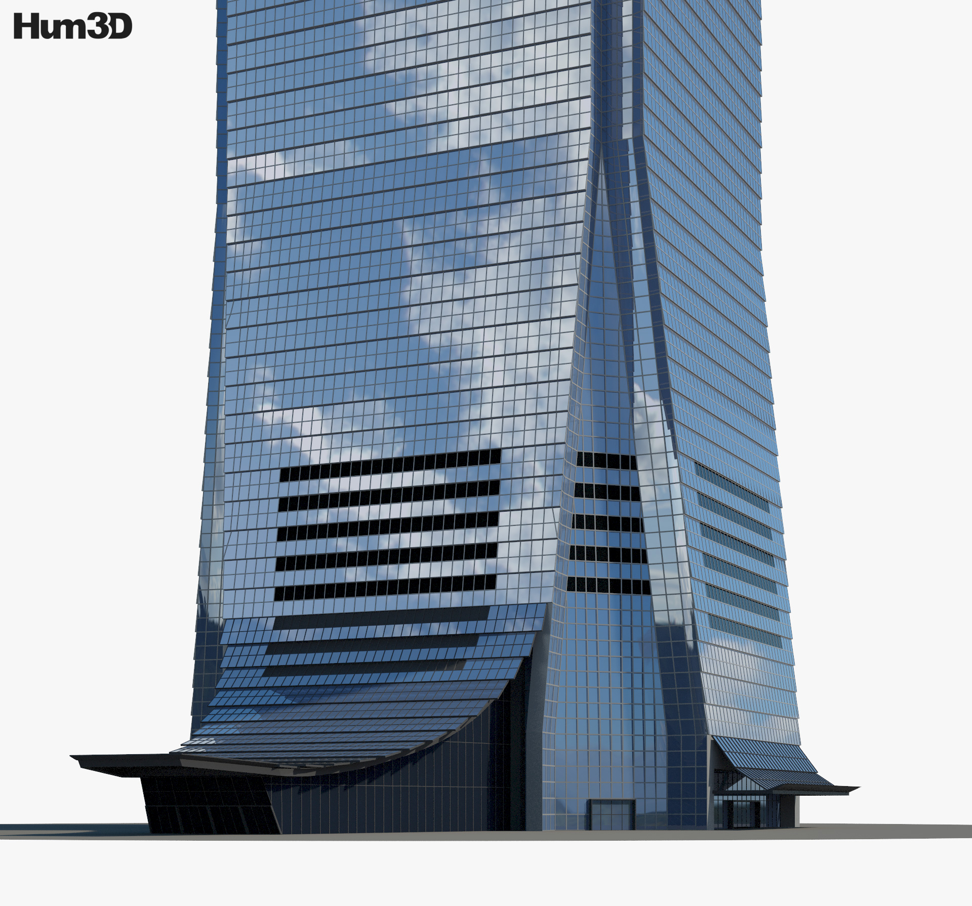 International Commerce Centre 3d model