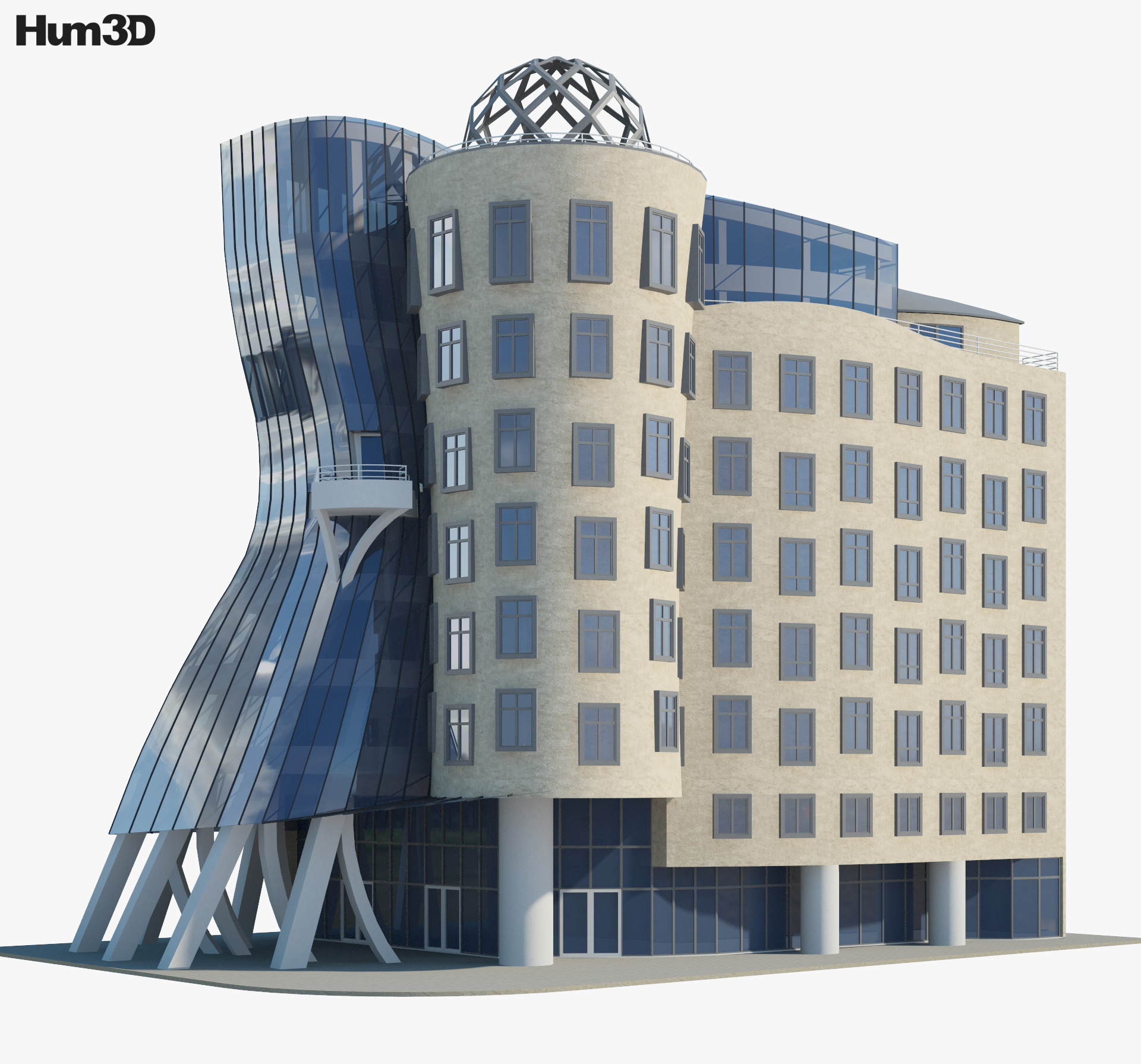 Dancing House 3d model
