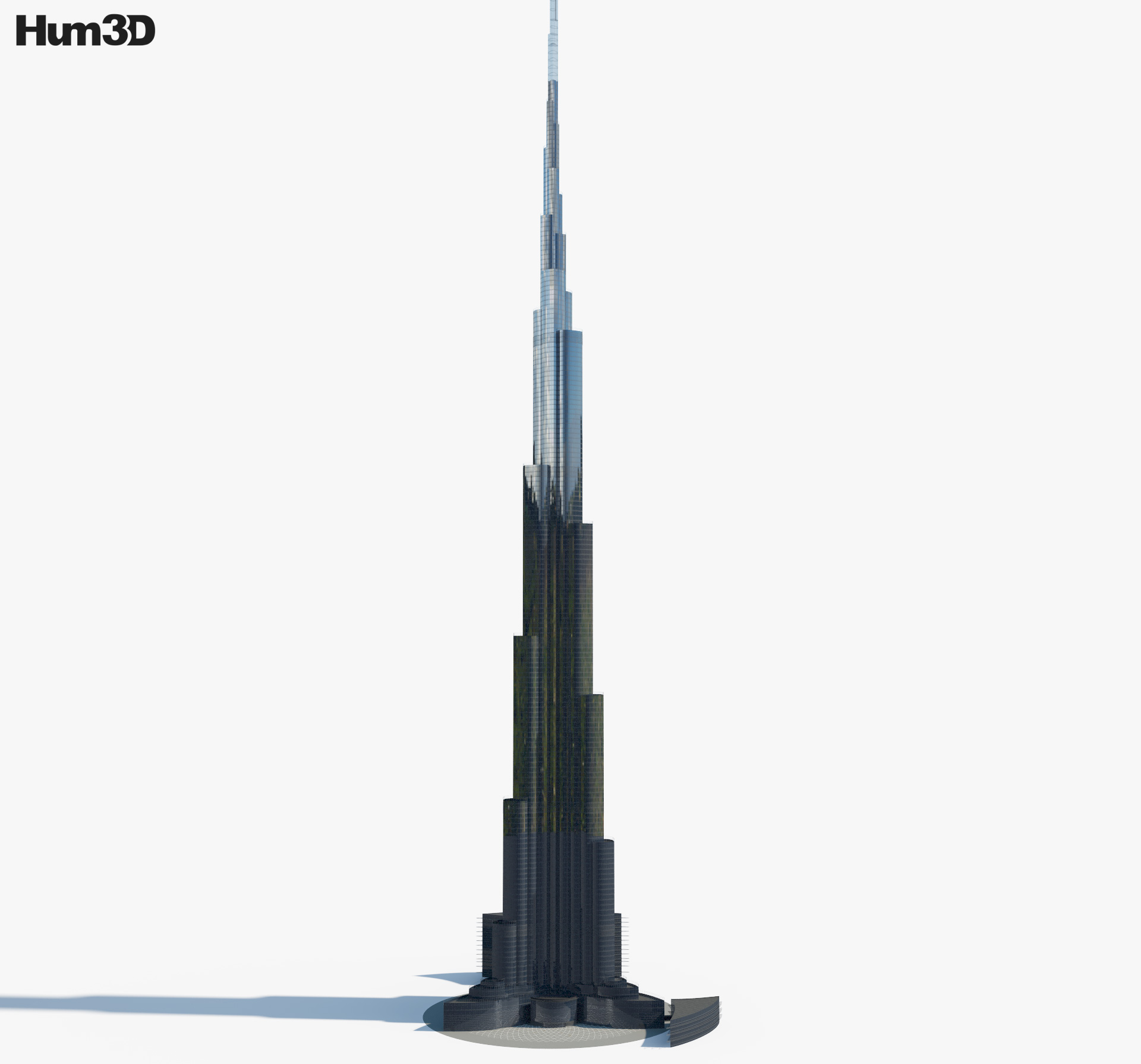 Burj Khalifa 3d model