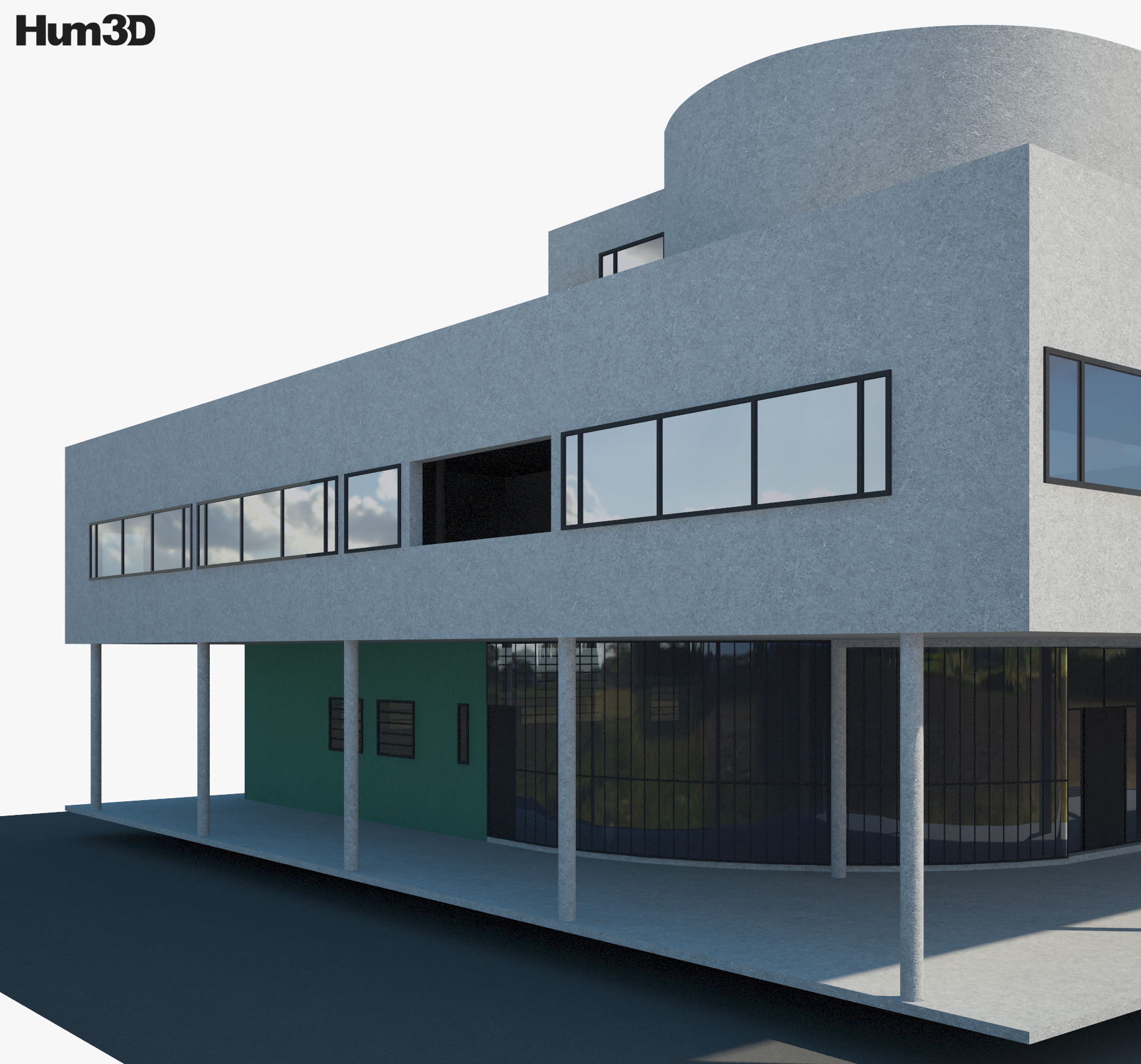 Villa Savoye 3d model