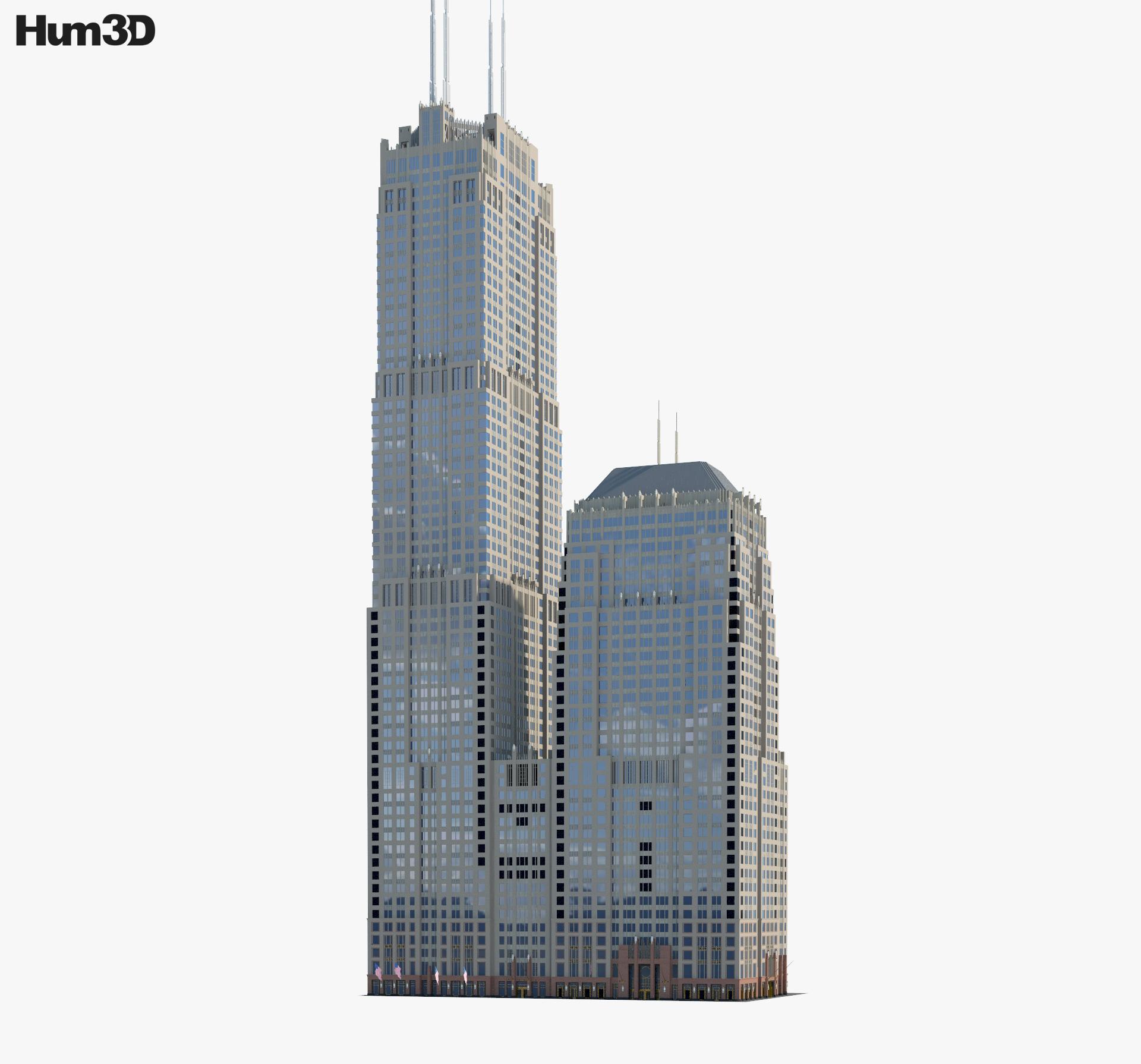Franklin Center 3d model
