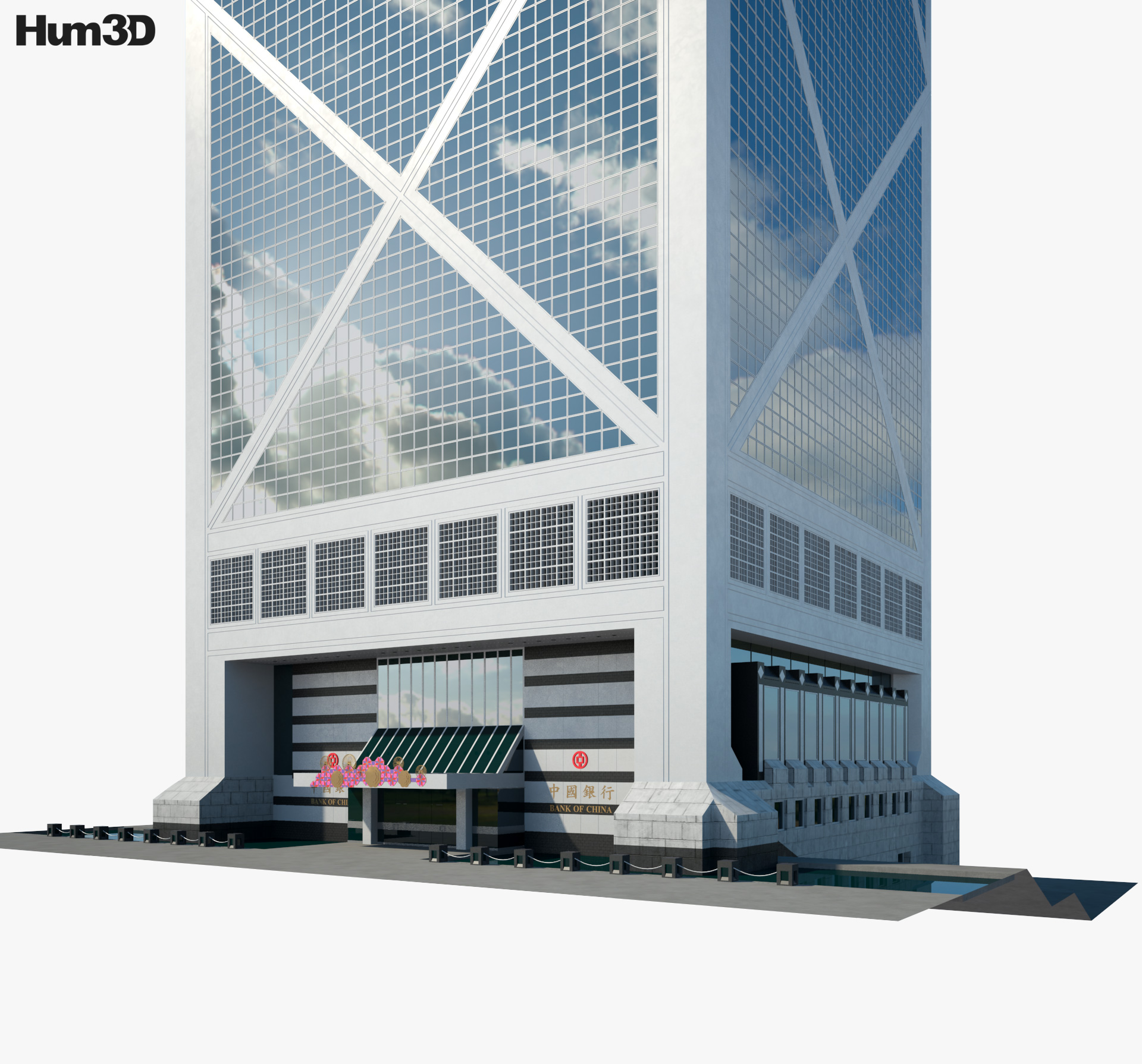 Bank of China Tower (Hong Kong) 3d model