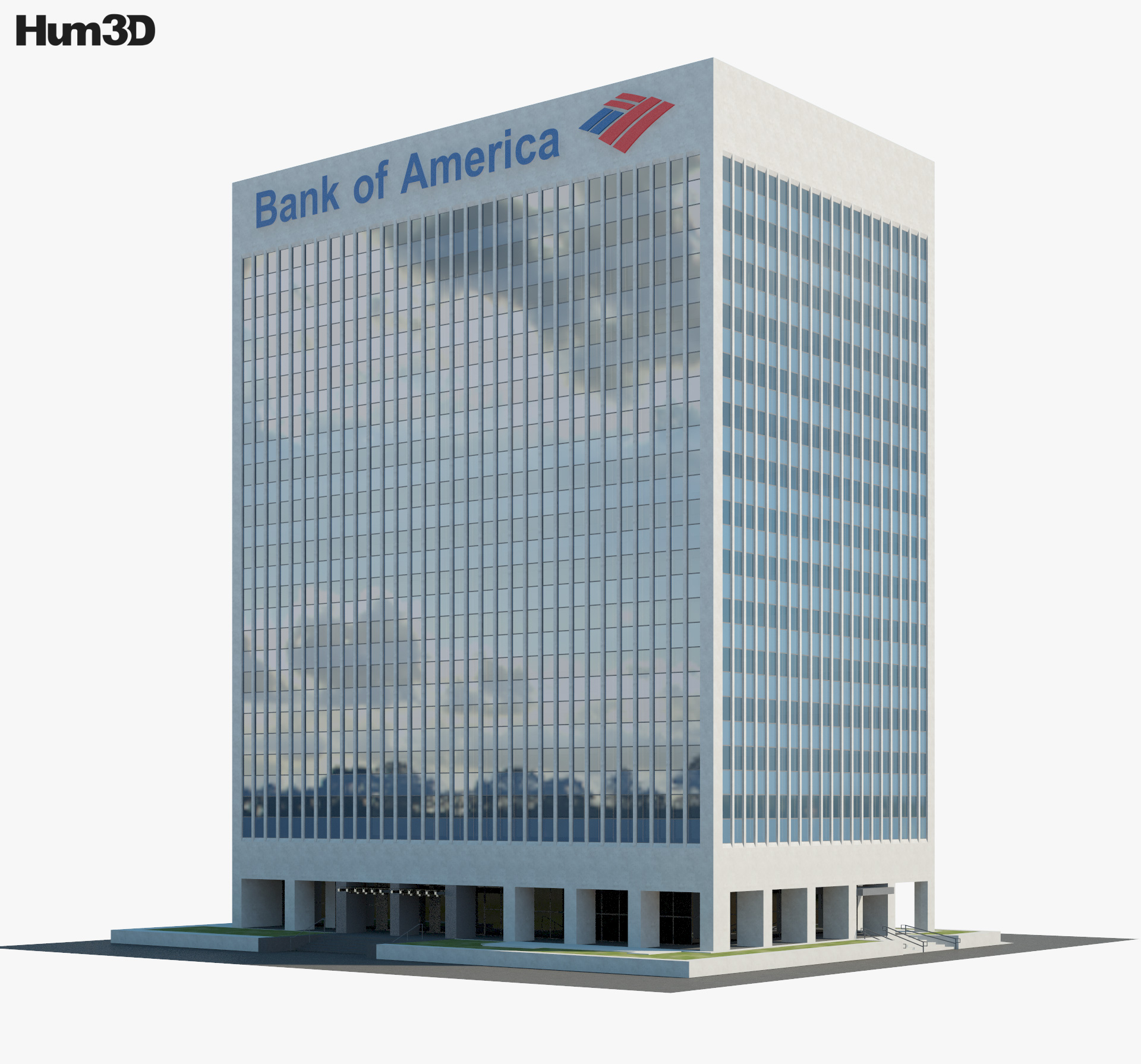 Bank of America Financial Center in Las Vegas 3d model