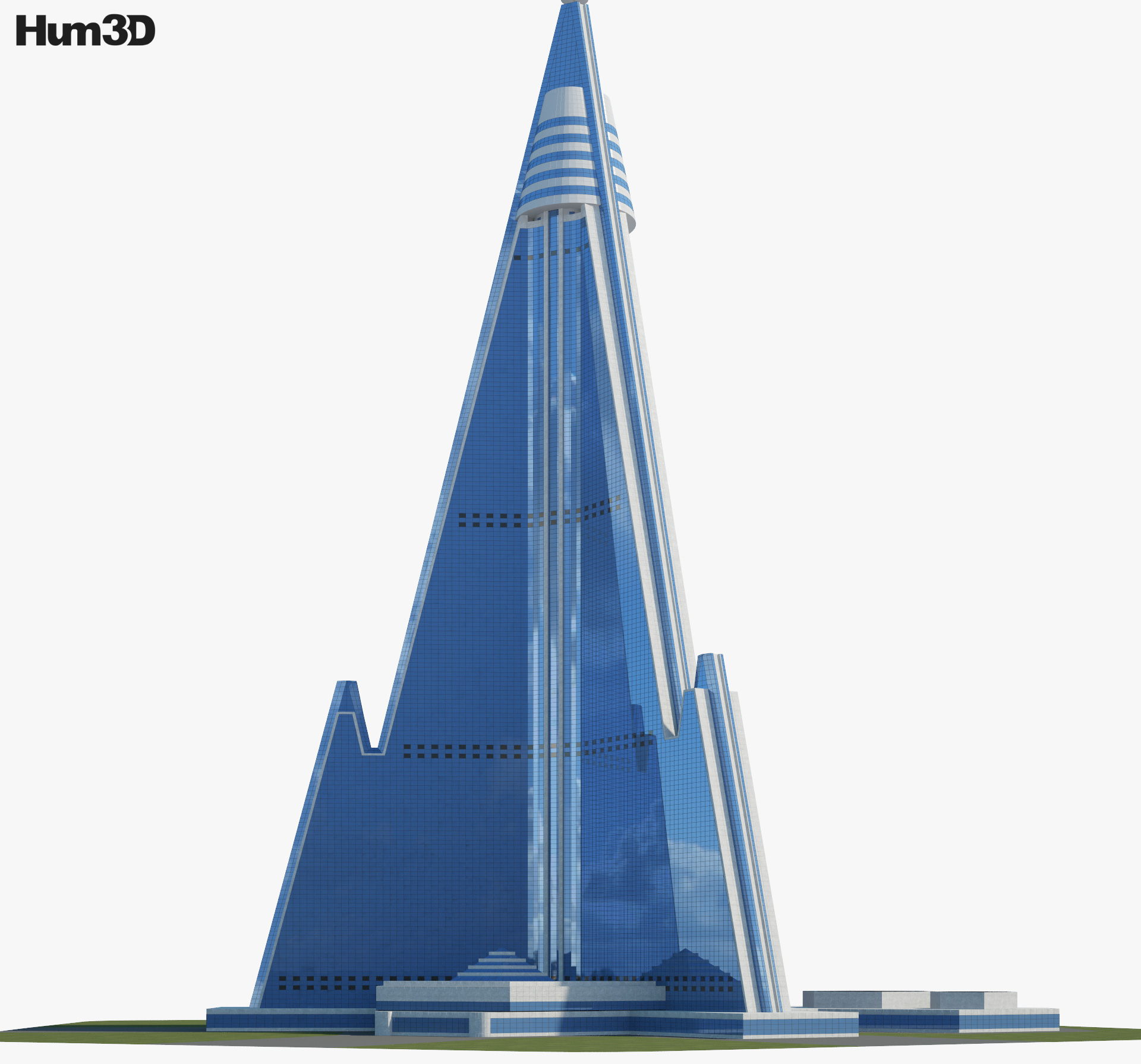 3D model of Ryugyong Hotel