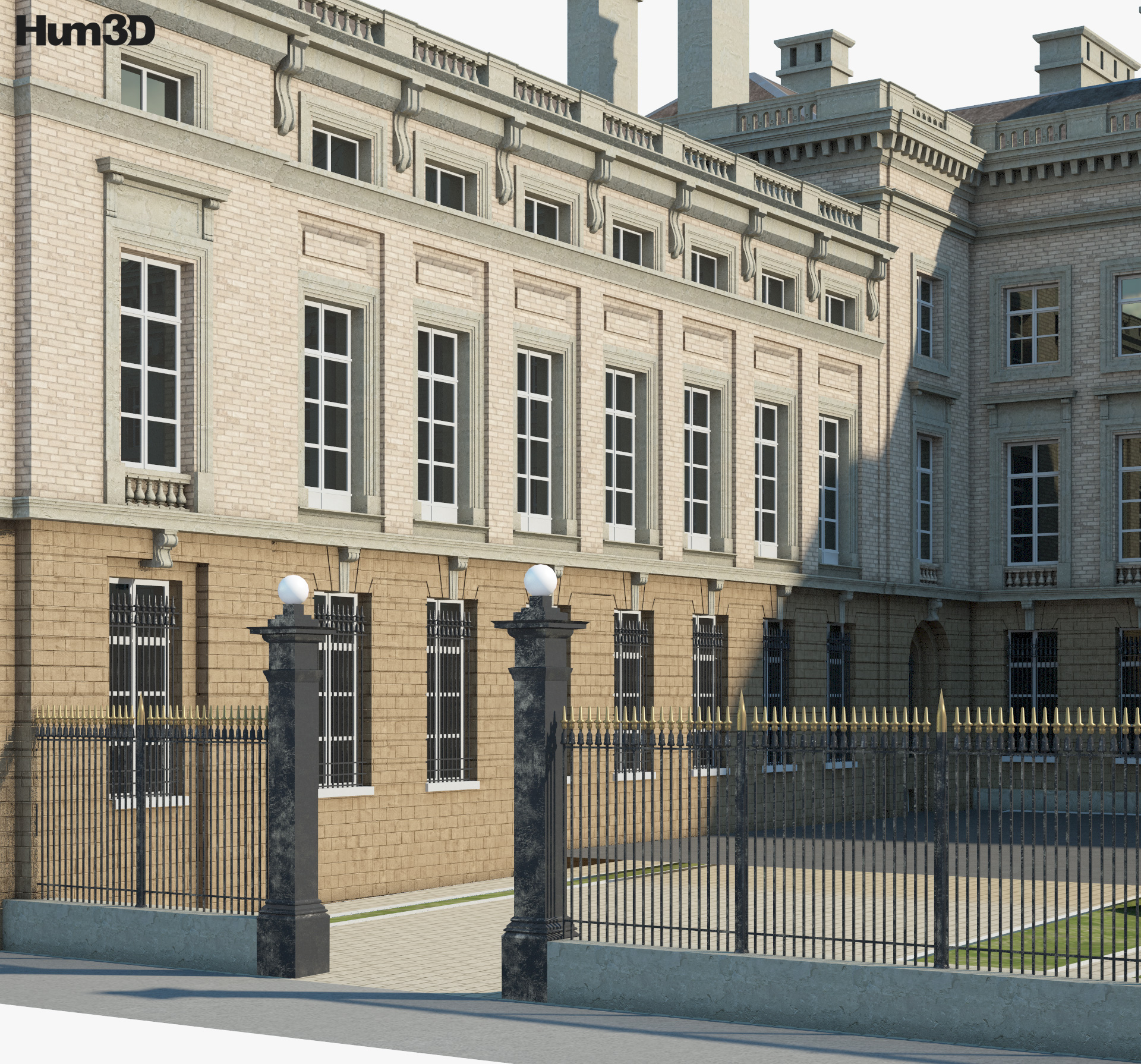 Palace of the Nation (Brussels) 3d model