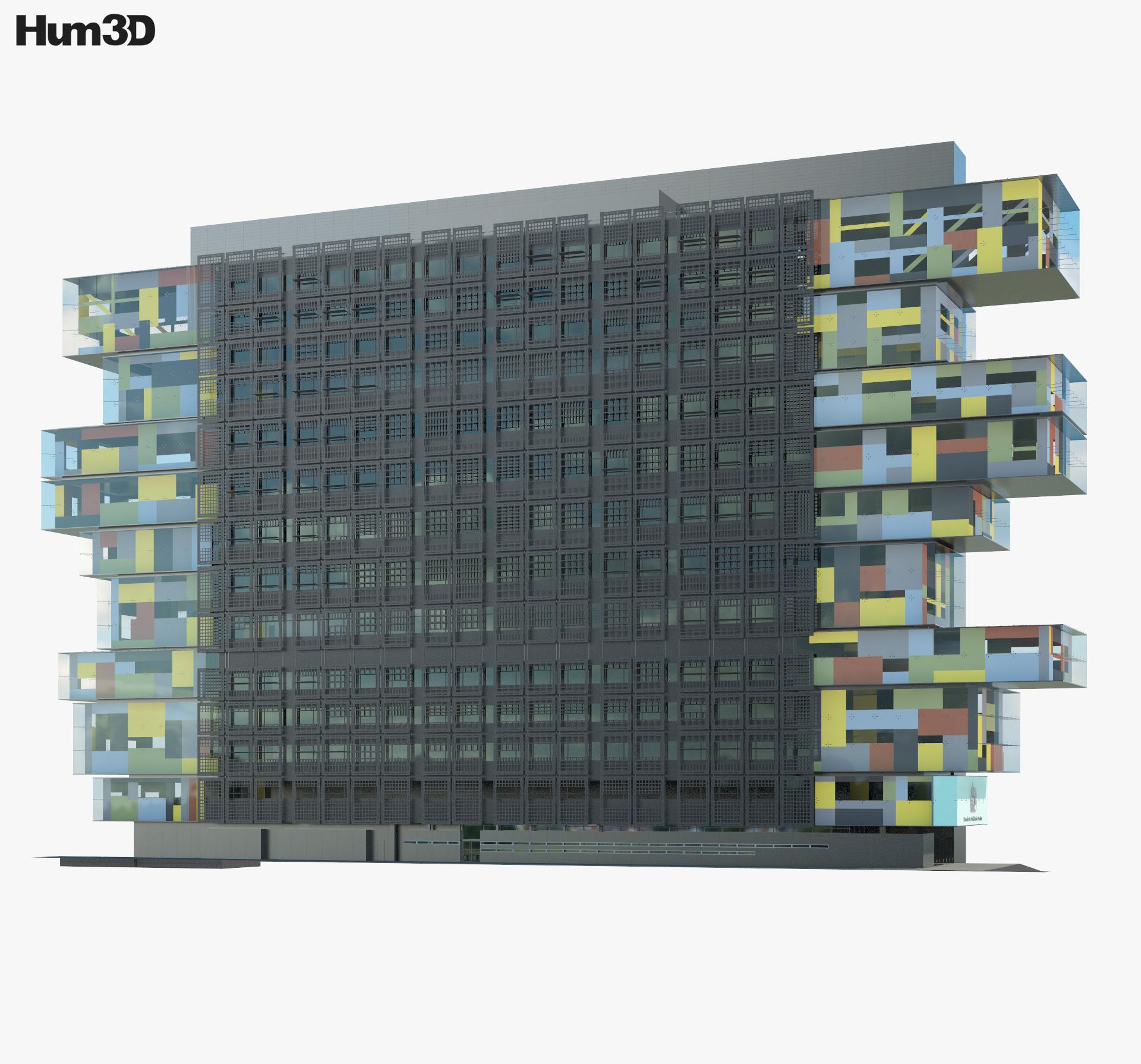 Manchester Civil Justice Centre 3d model