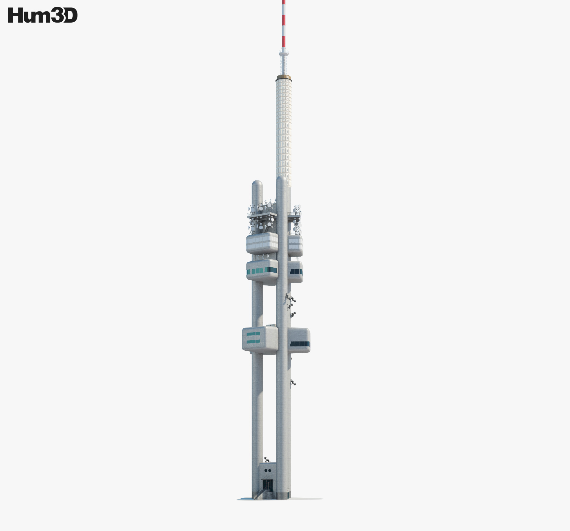 3D model of Zizkov Tower