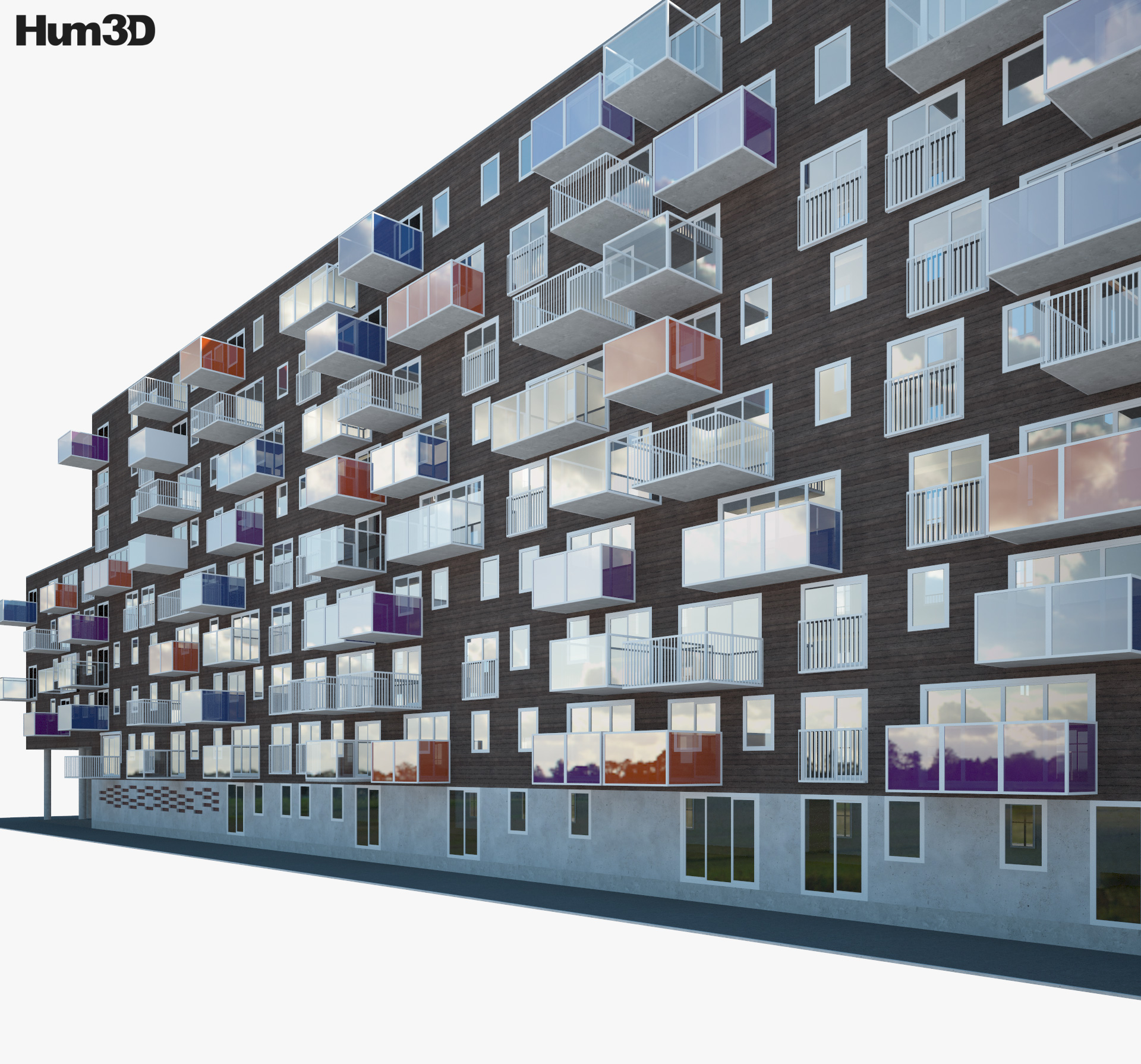 Wozoco Apartments 3d model