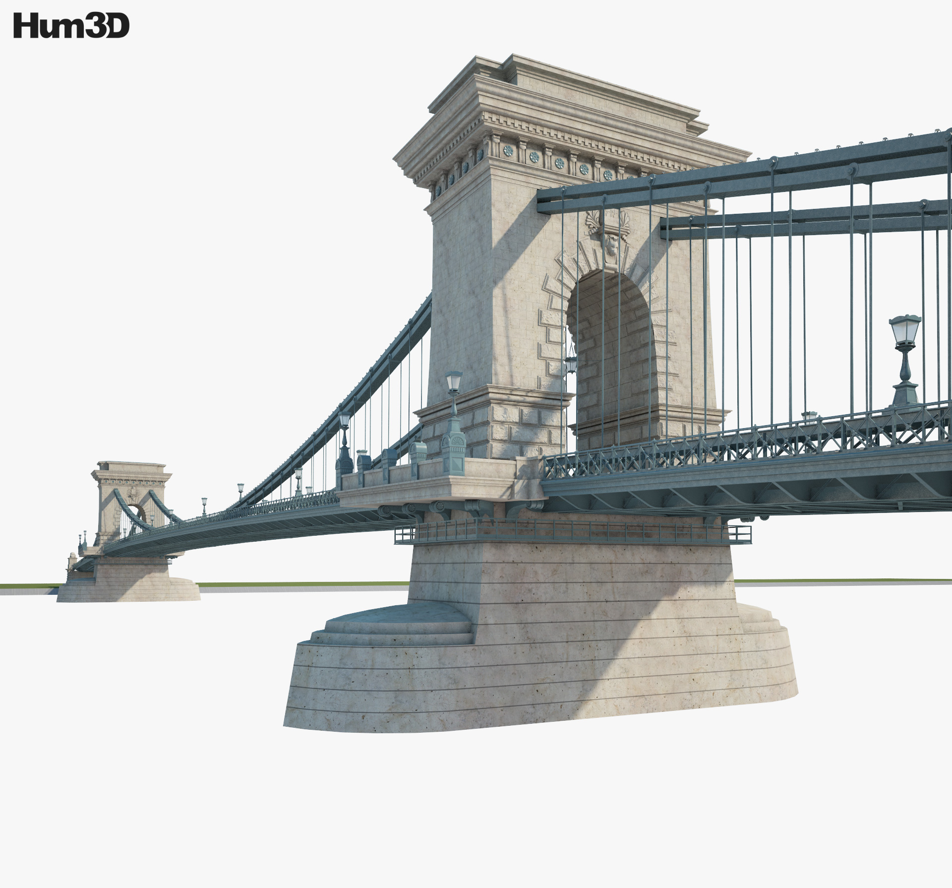 Chain Bridge (Budapest) 3d model
