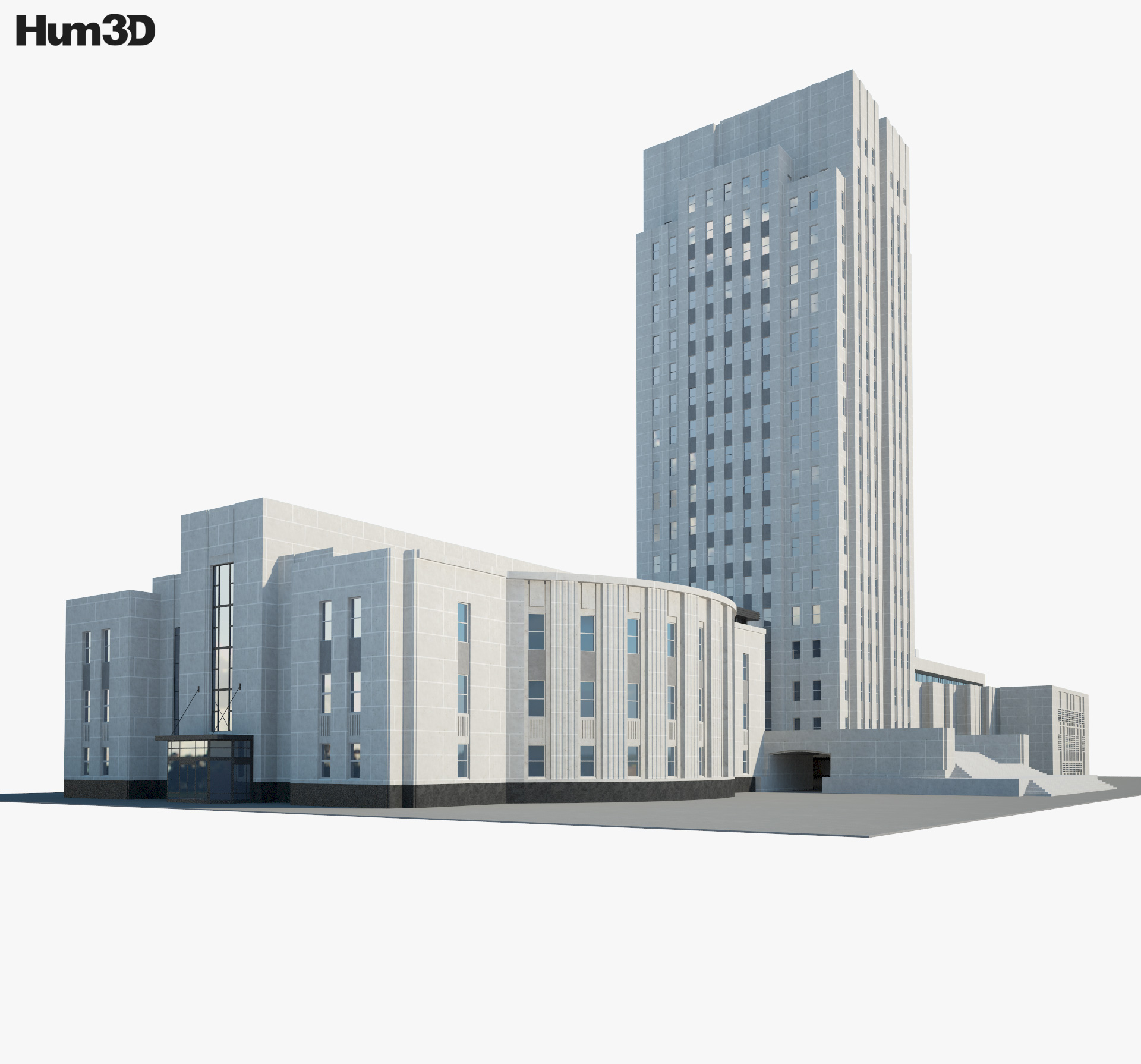 North Dakota State Capitol 3d model