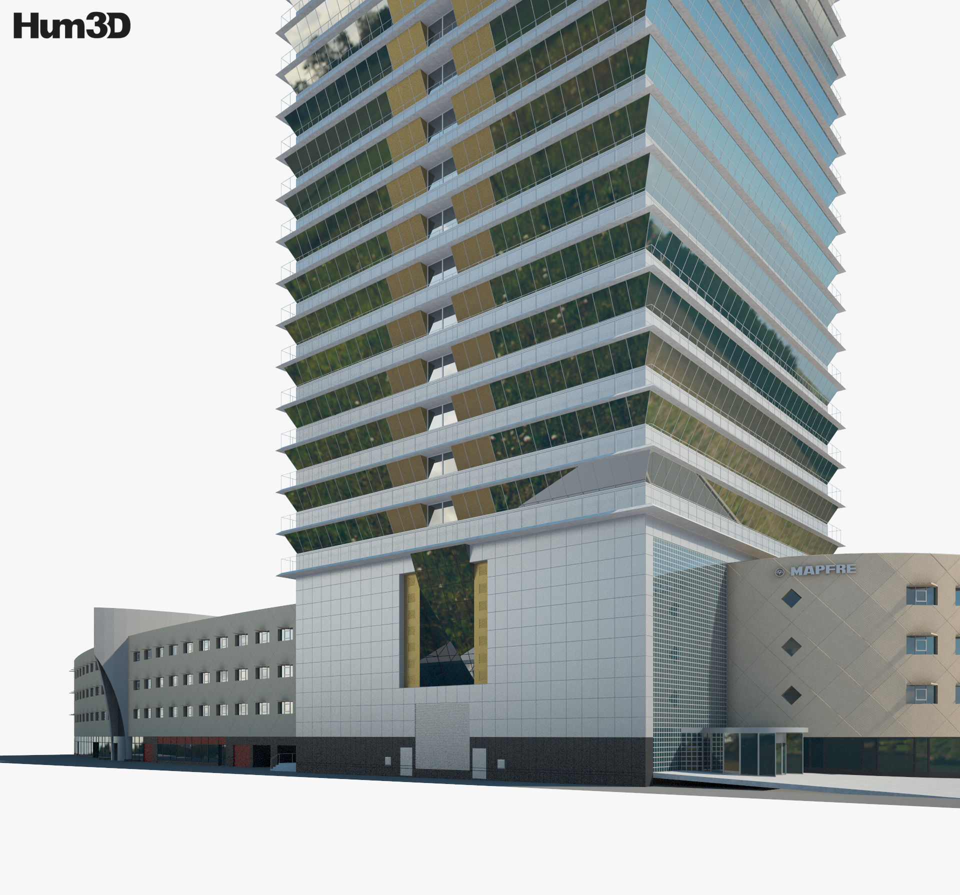 Torre Mapfre 3d model