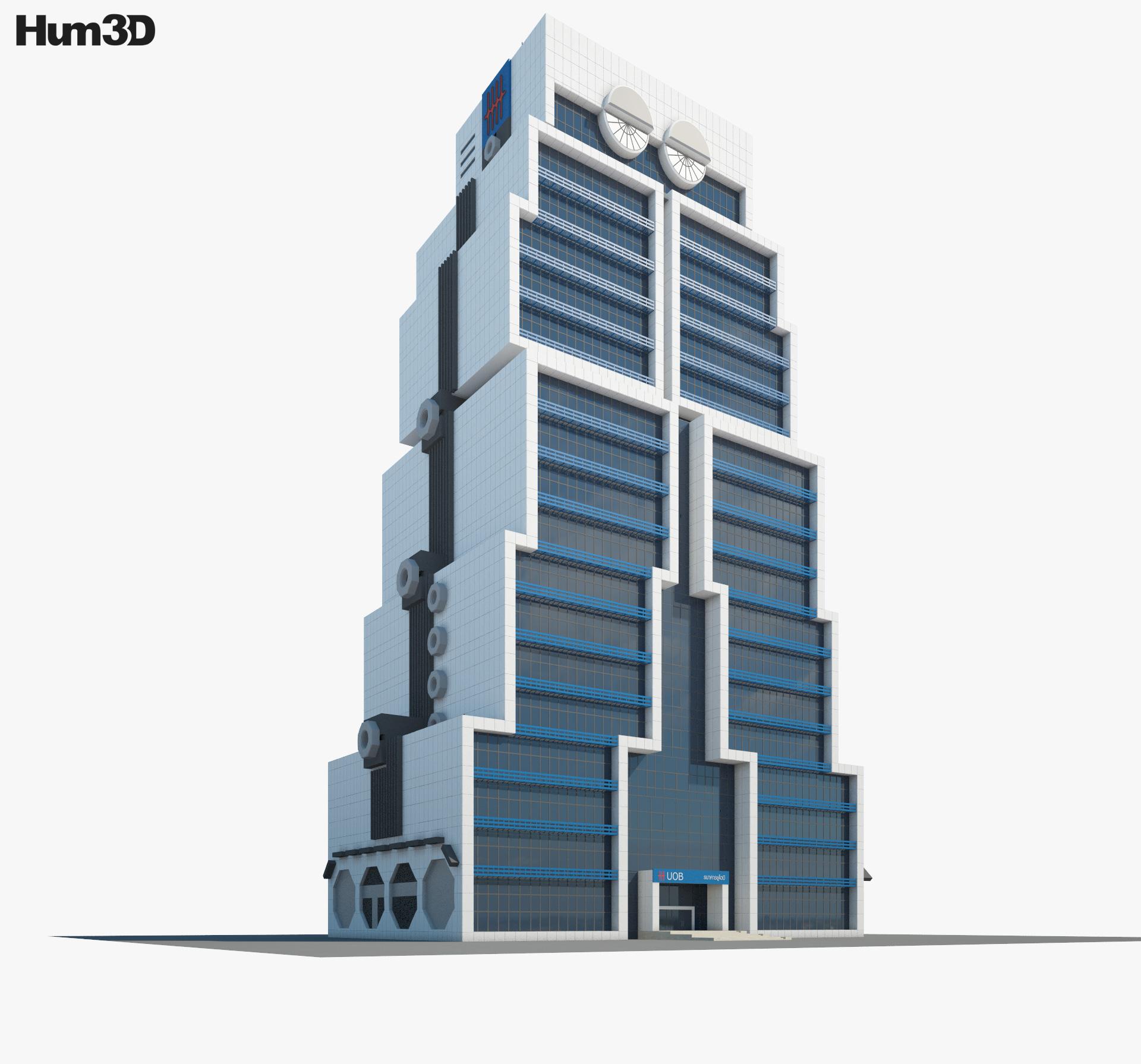 United Overseas Bank Bangkok 3d model