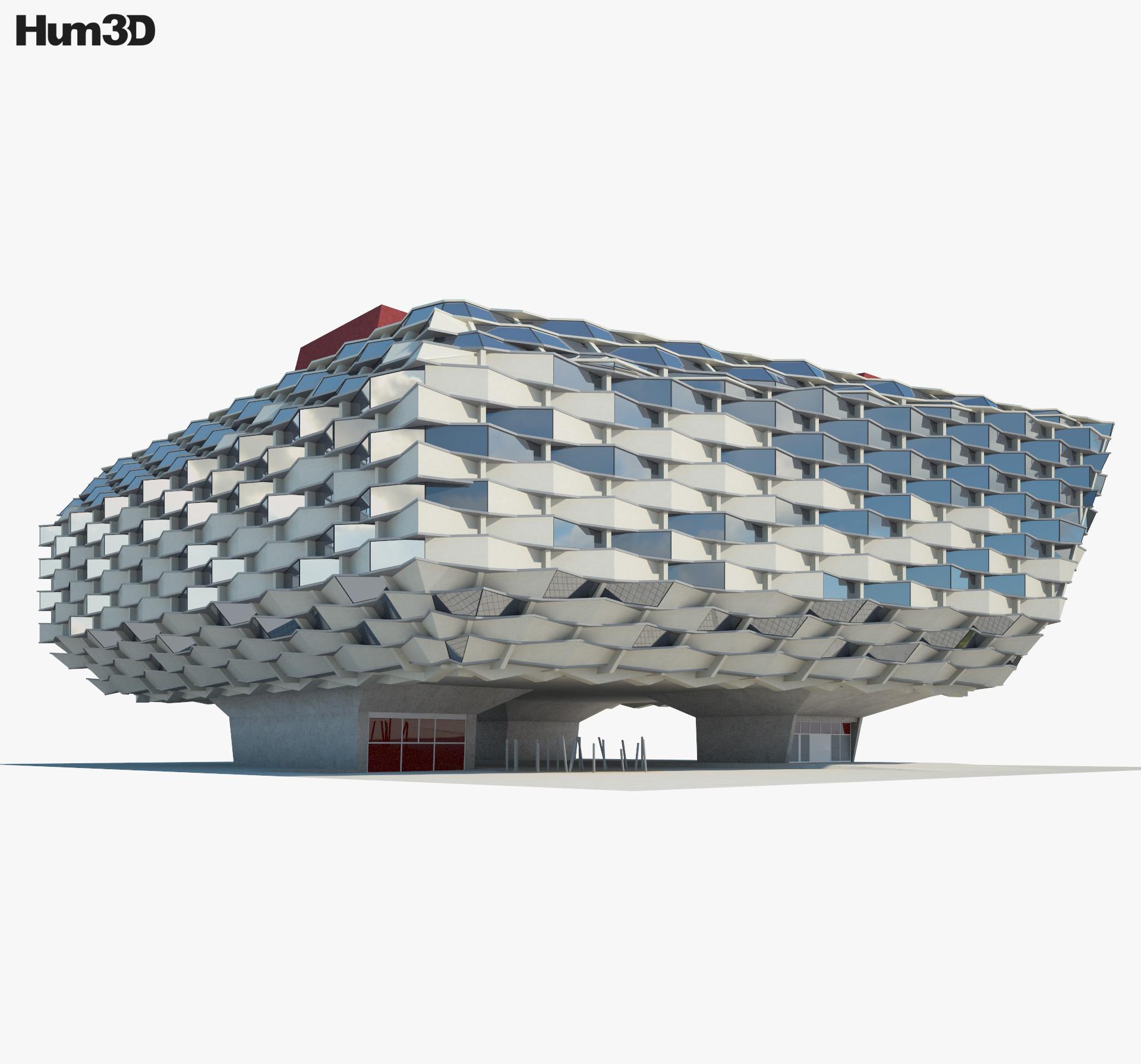 Pabellon de Aragon 3d model