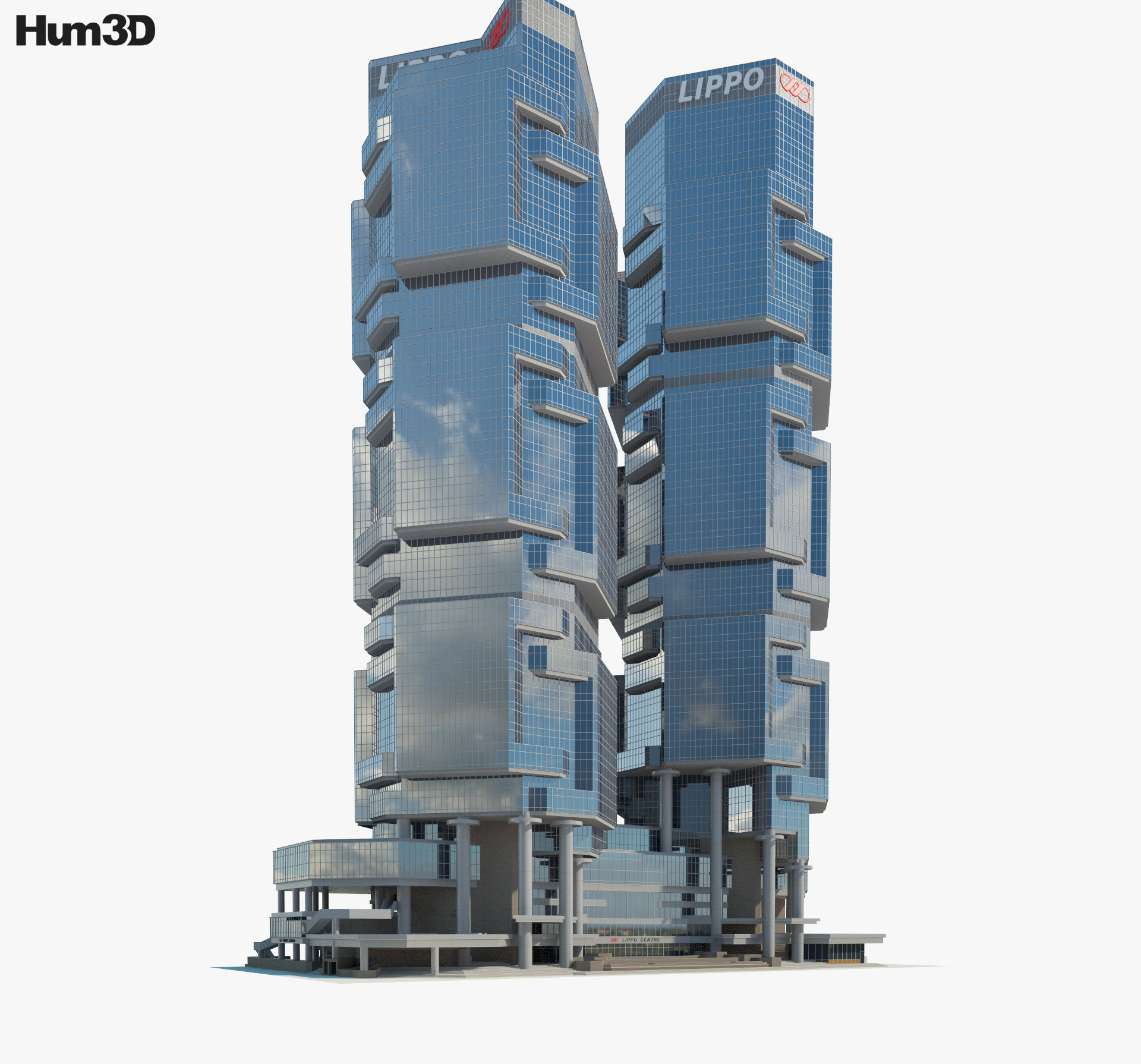 3D model of Lippo Centre