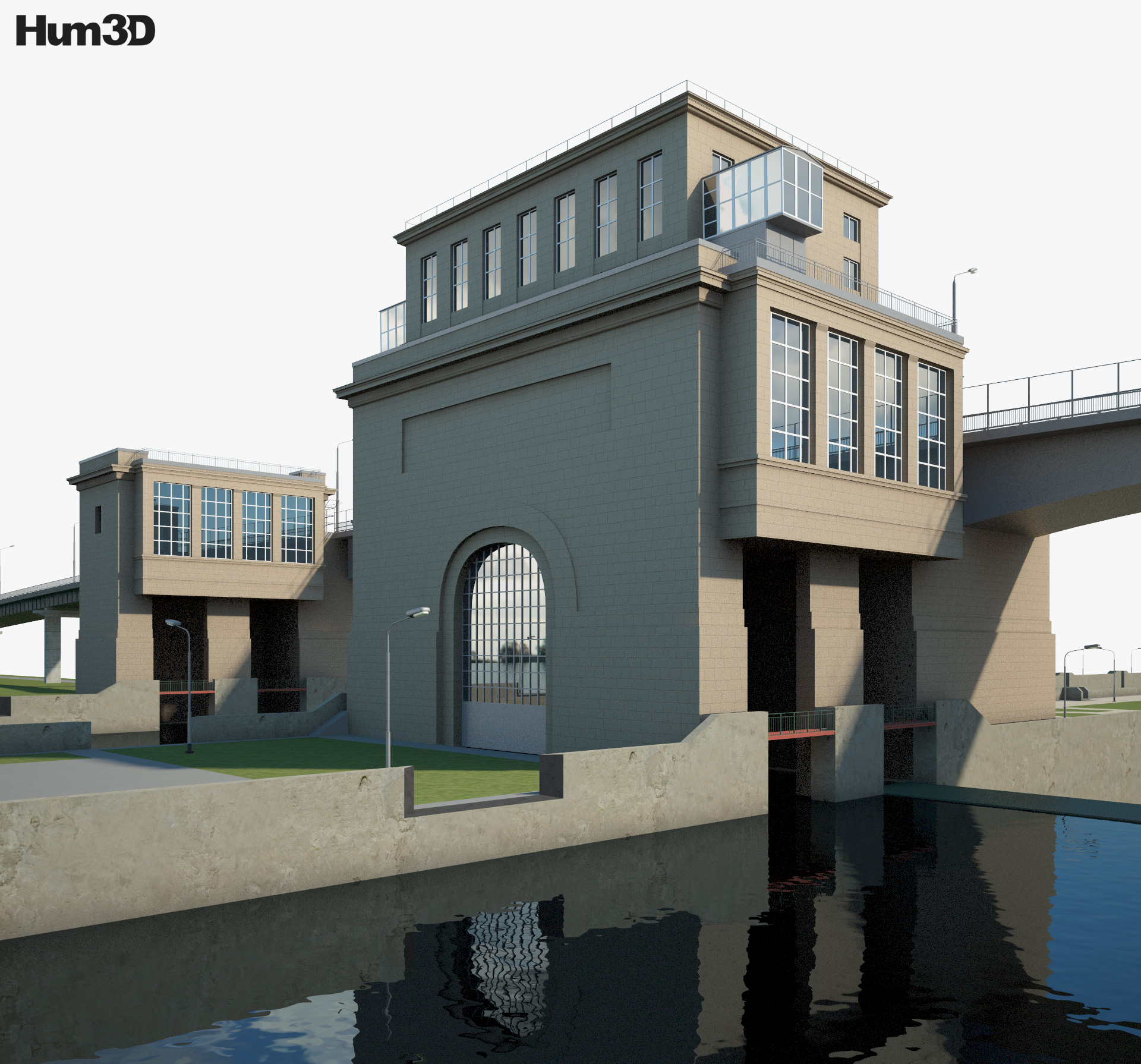Gateway at Gorodets 3d model
