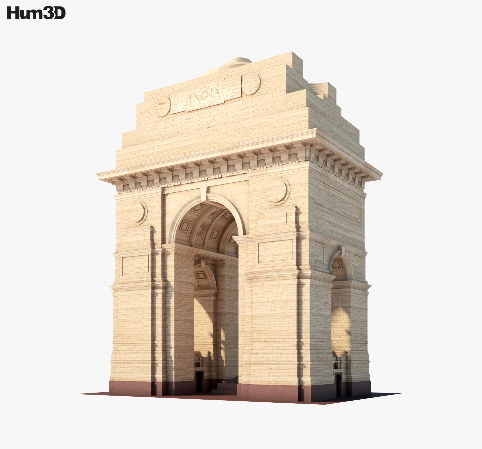 India Gate 3d model