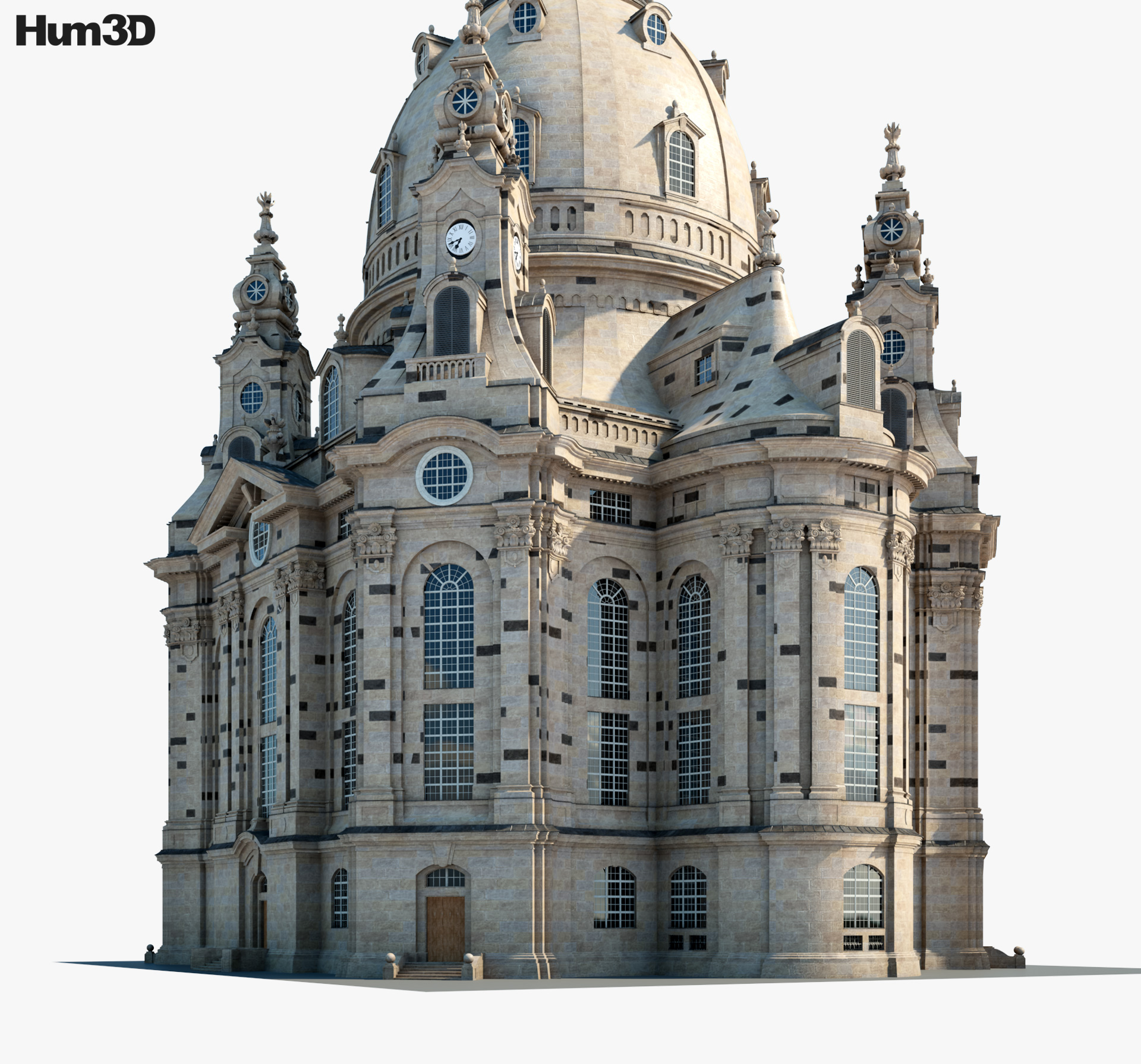 Dresden Frauenkirche 3d model