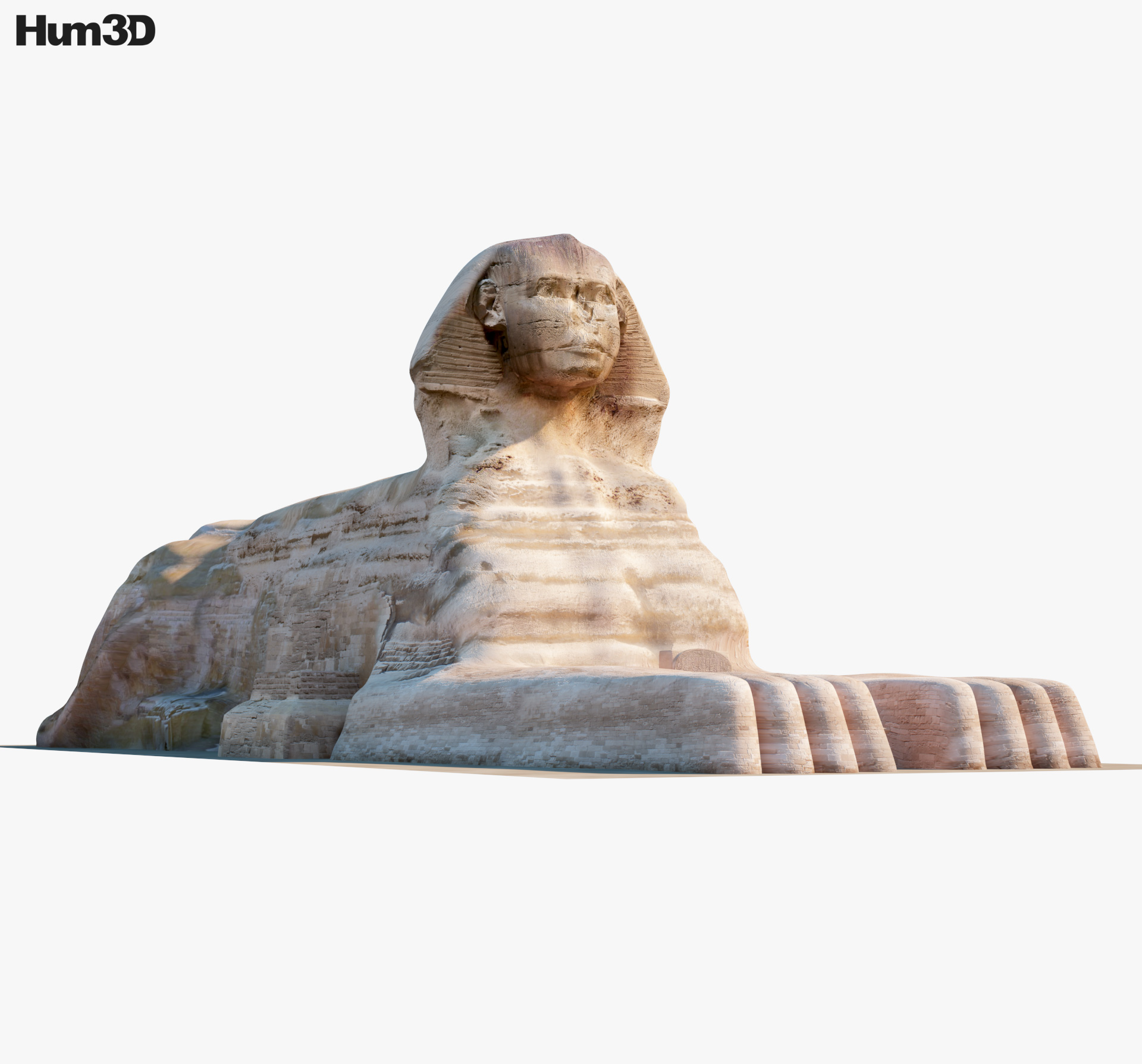 3D model of Great Sphinx of Giza