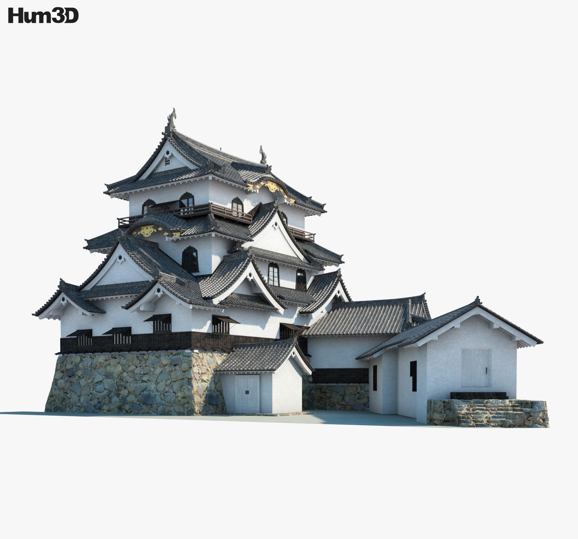Hikone Castle 3d model