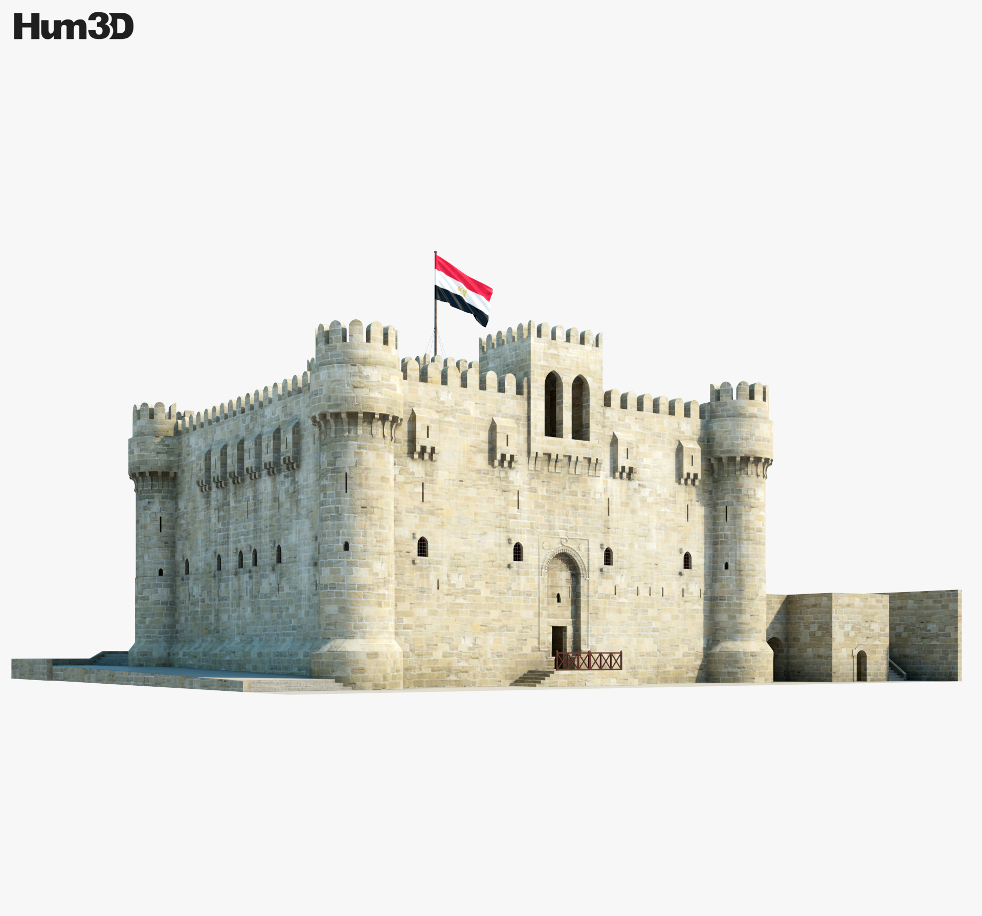 Citadel of Qaitbay 3d model