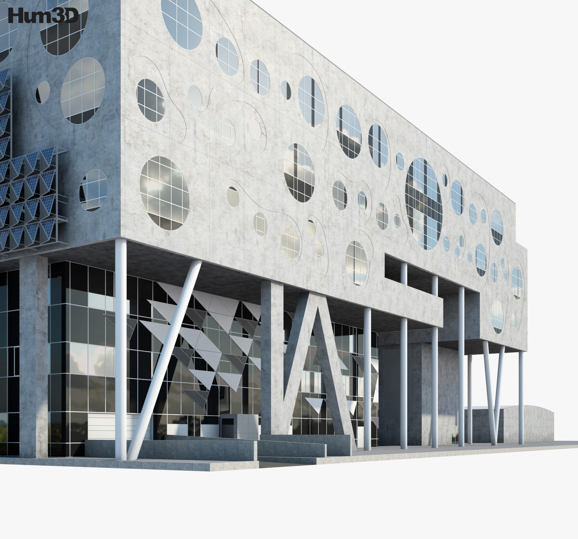 The House of Music in Aalborg 3d model