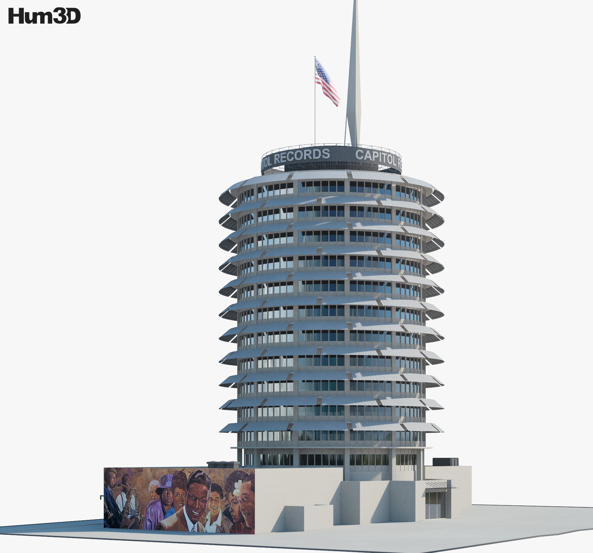 3D model of Capitol Records Building