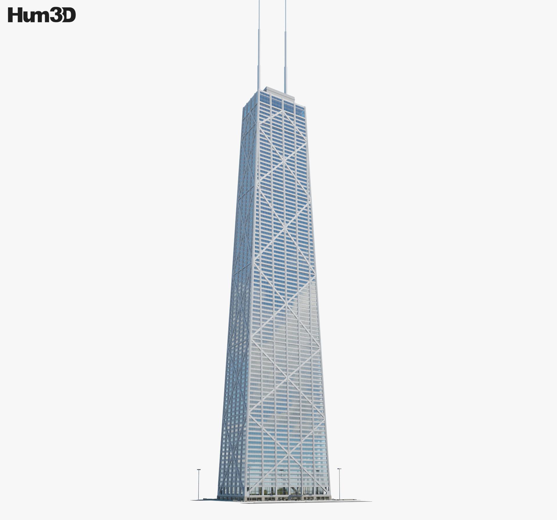 John Hancock Center 3d model