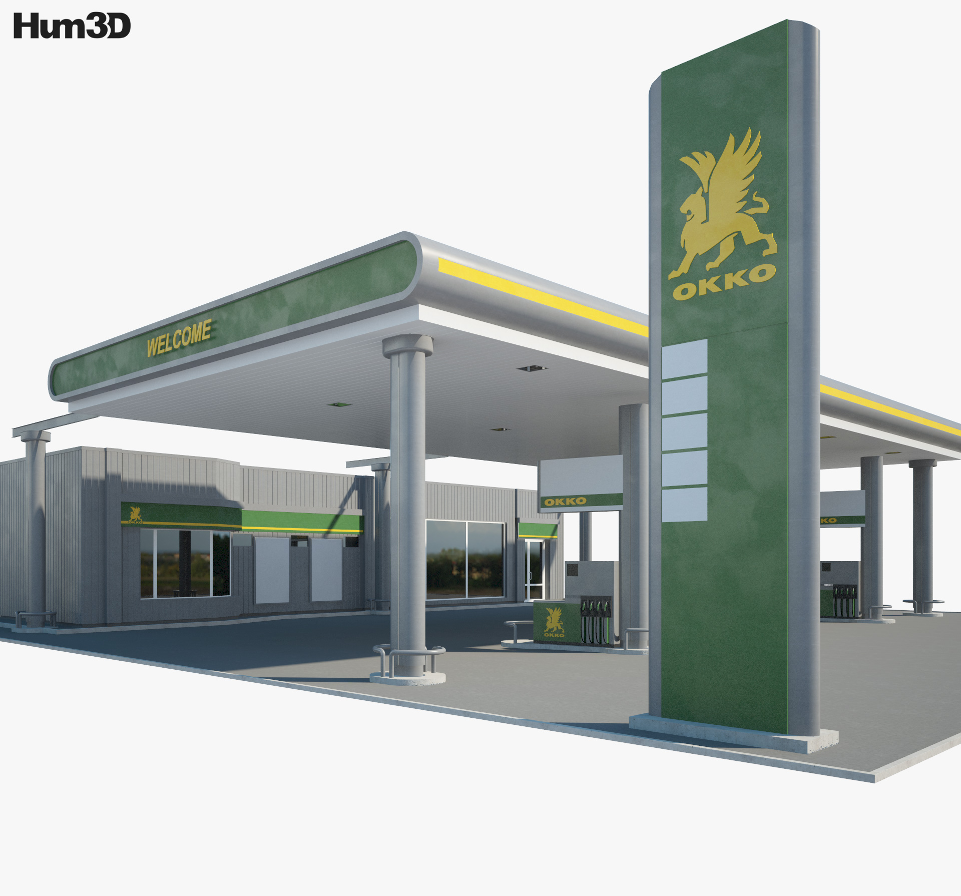 OKKO gas station 001 3d model